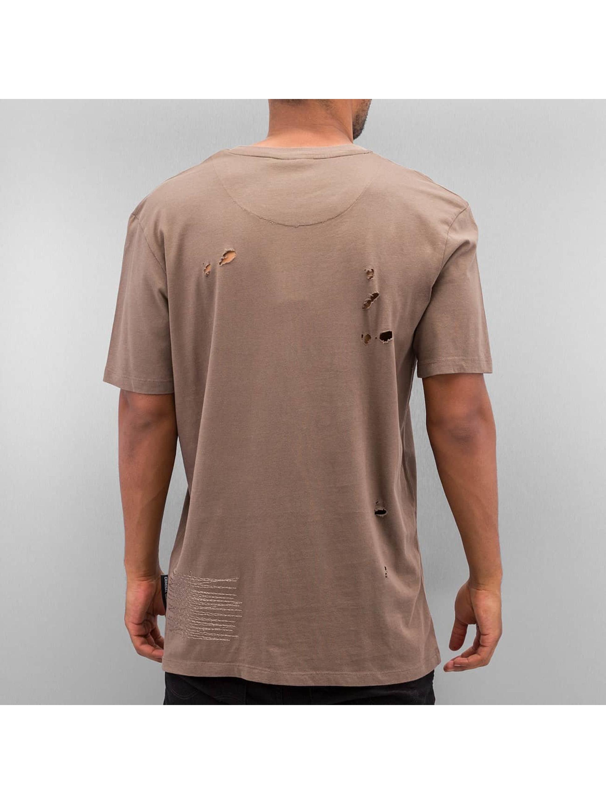 Criminal Damage T-Shirt Rip braun