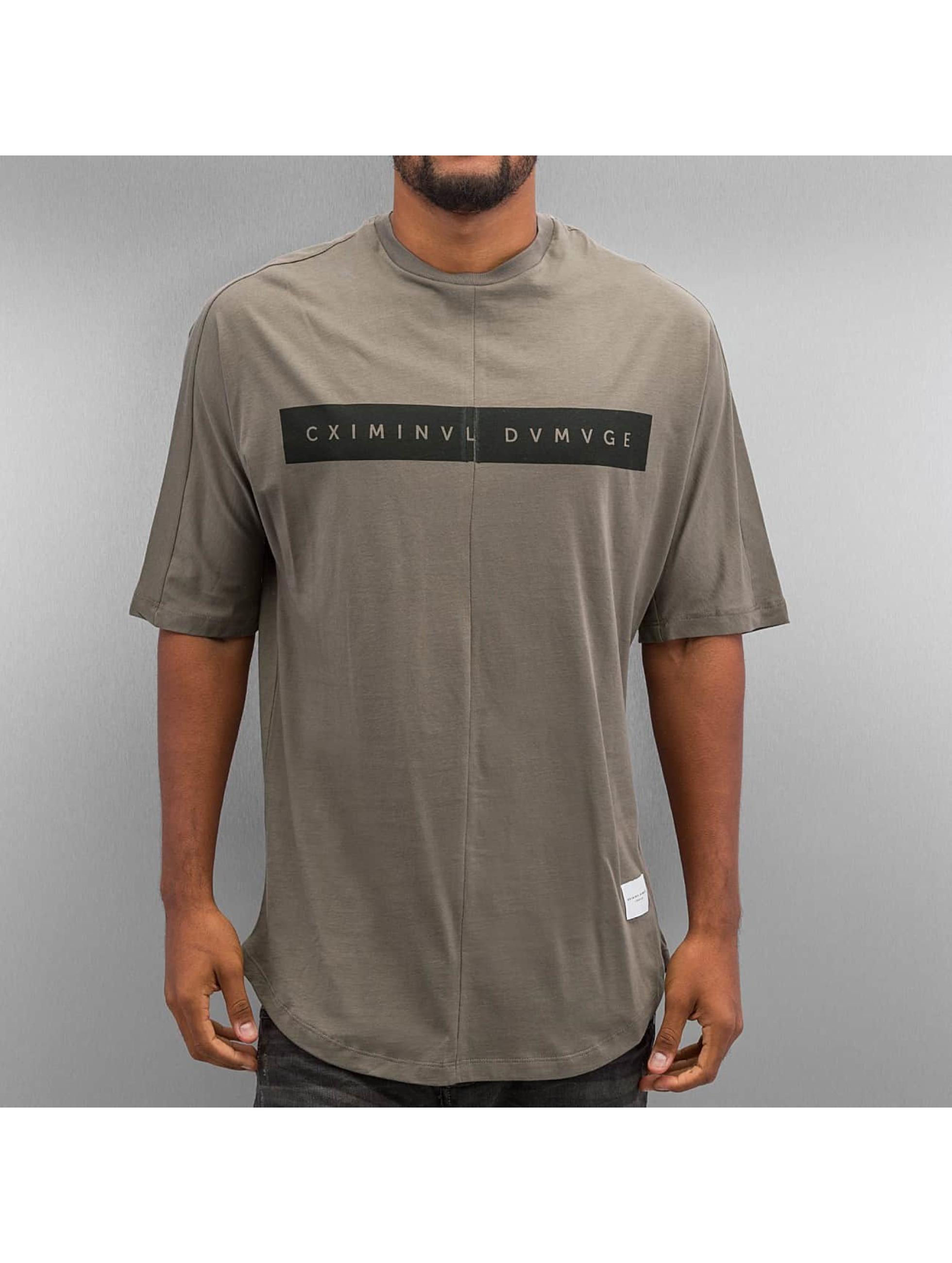 Criminal Damage T-Shirt Mac grey
