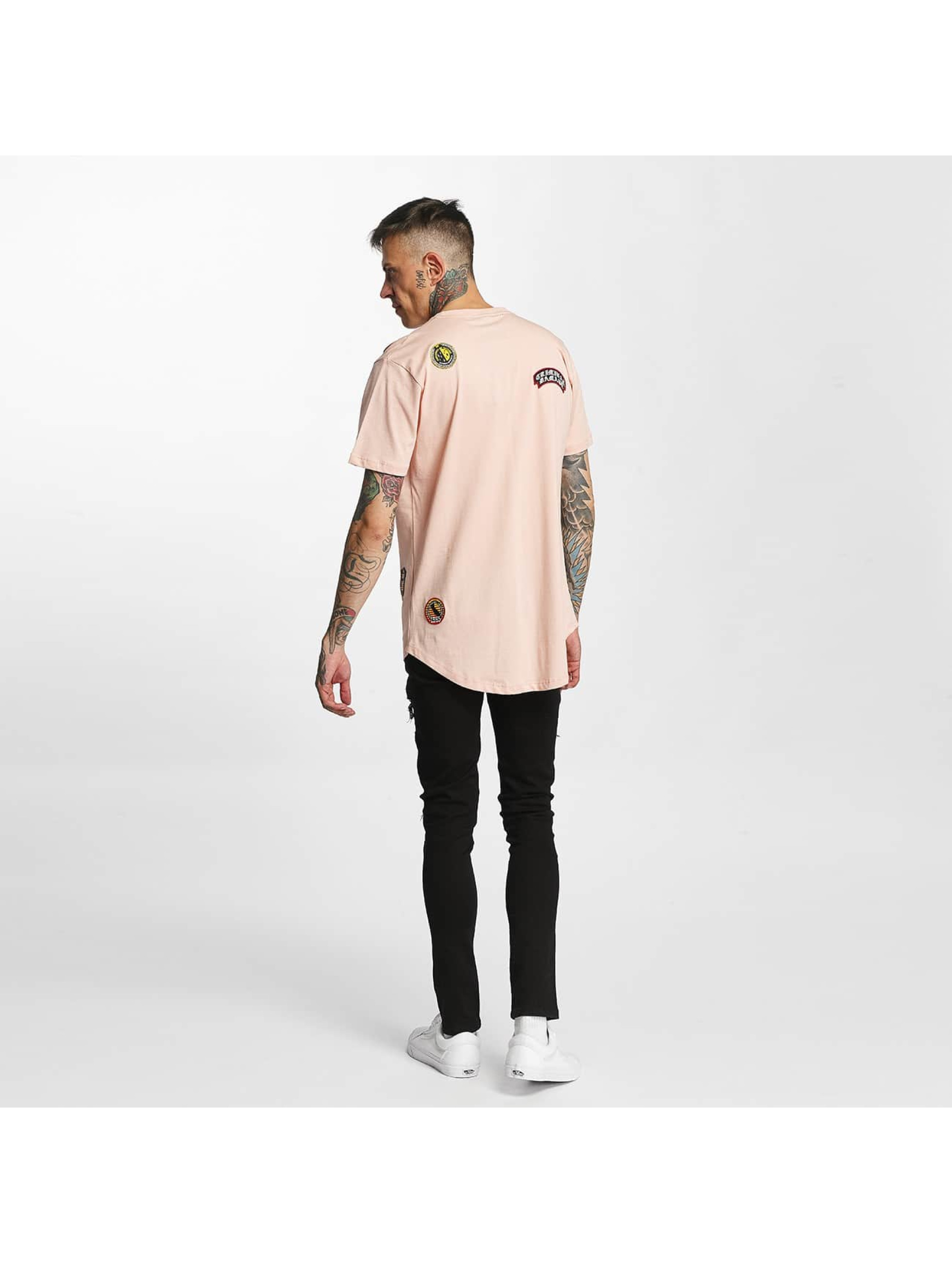Criminal Damage T-shirt Emblem rosa chiaro