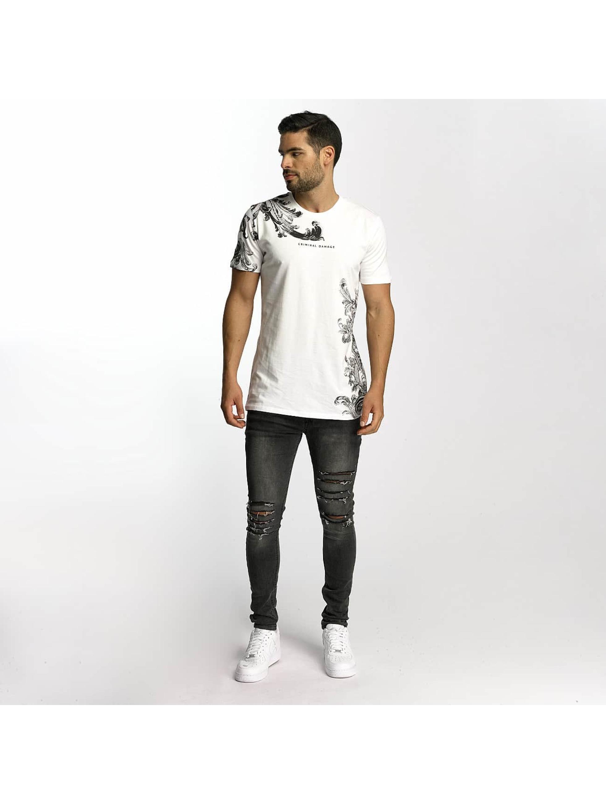 Criminal Damage T-Shirt Paulo weiß