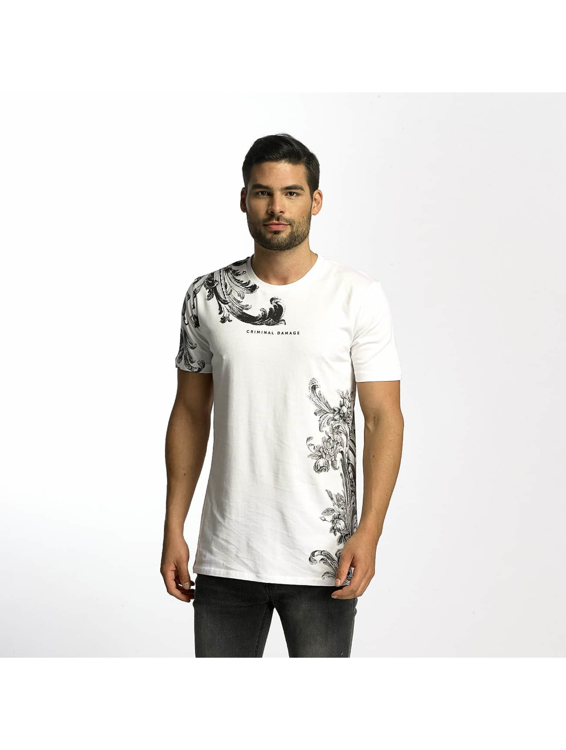 Criminal Damage T-Shirt Paulo white