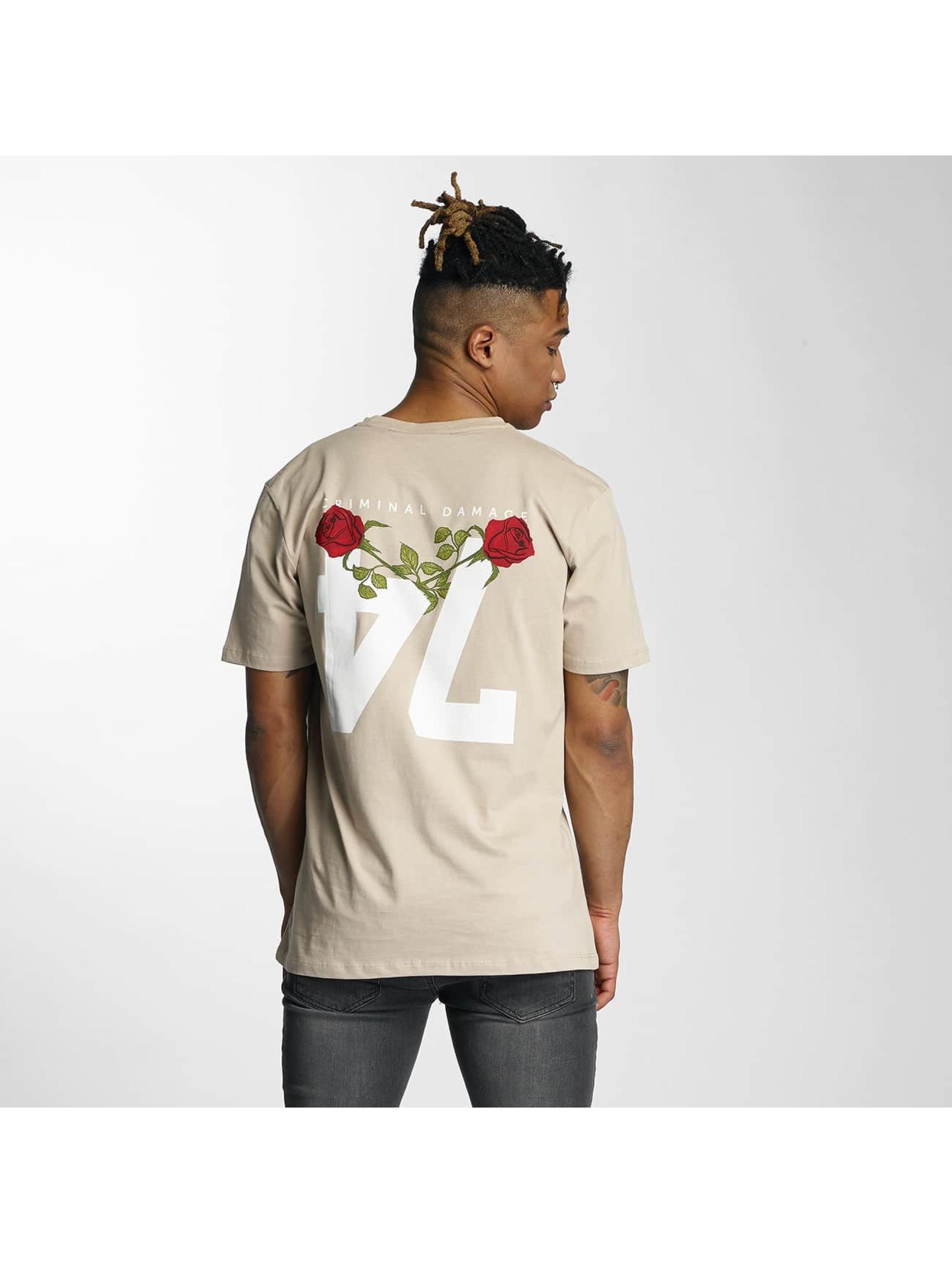 Criminal Damage T-Shirty Caliber bezowy