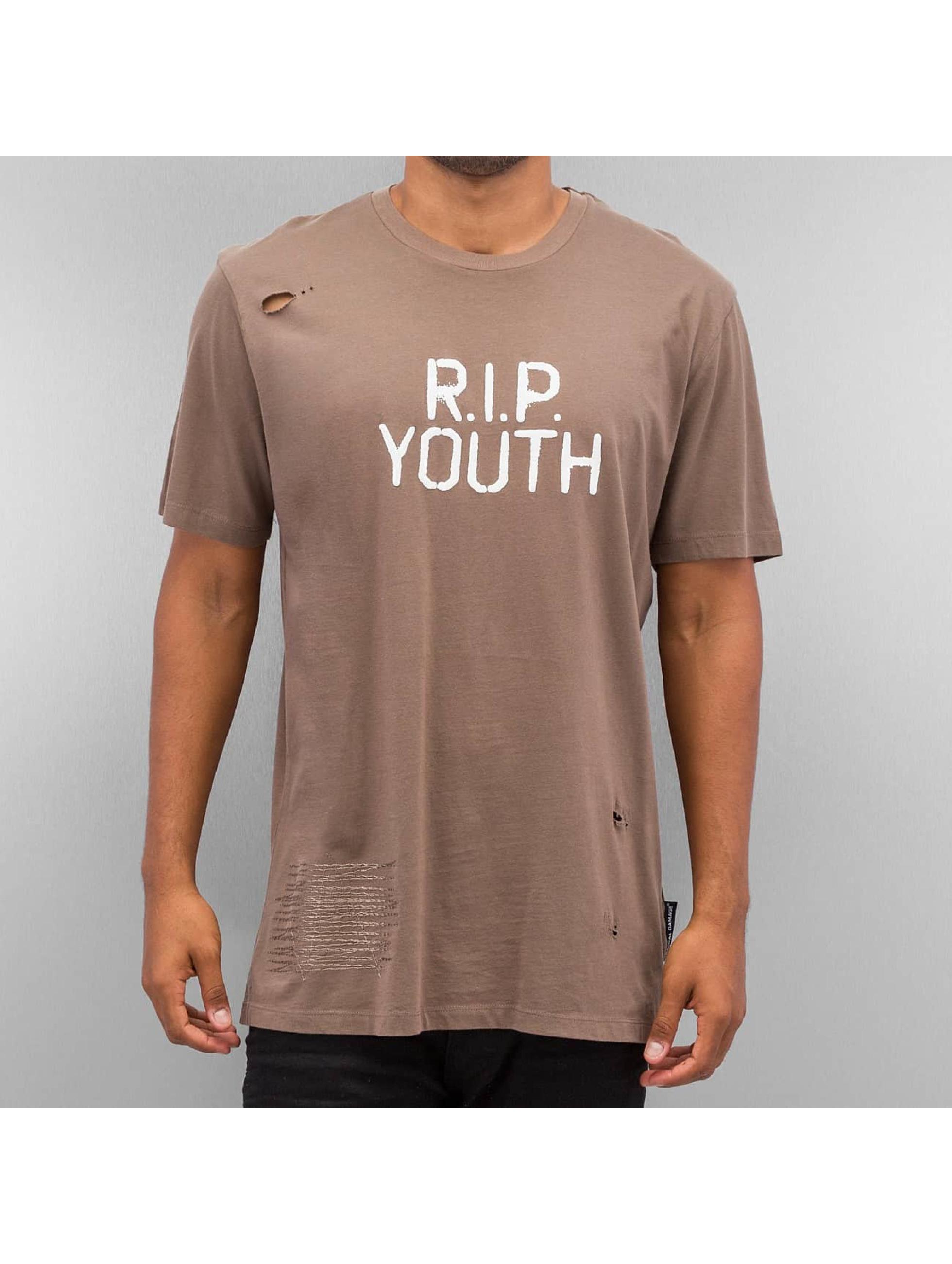 Criminal Damage T-Shirty Rip brazowy
