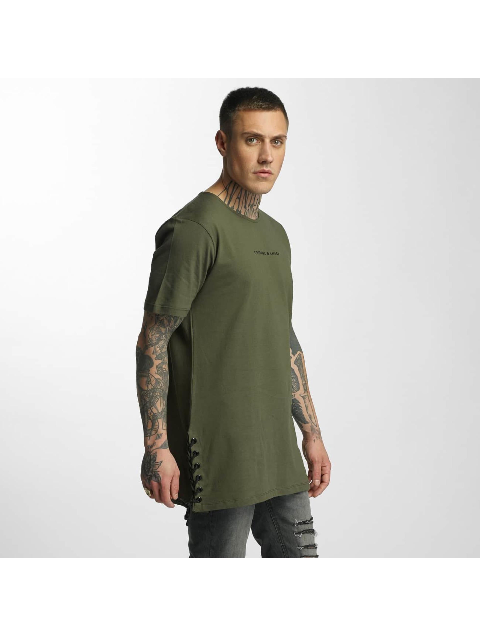 Criminal Damage T-Shirty Lace oliwkowy