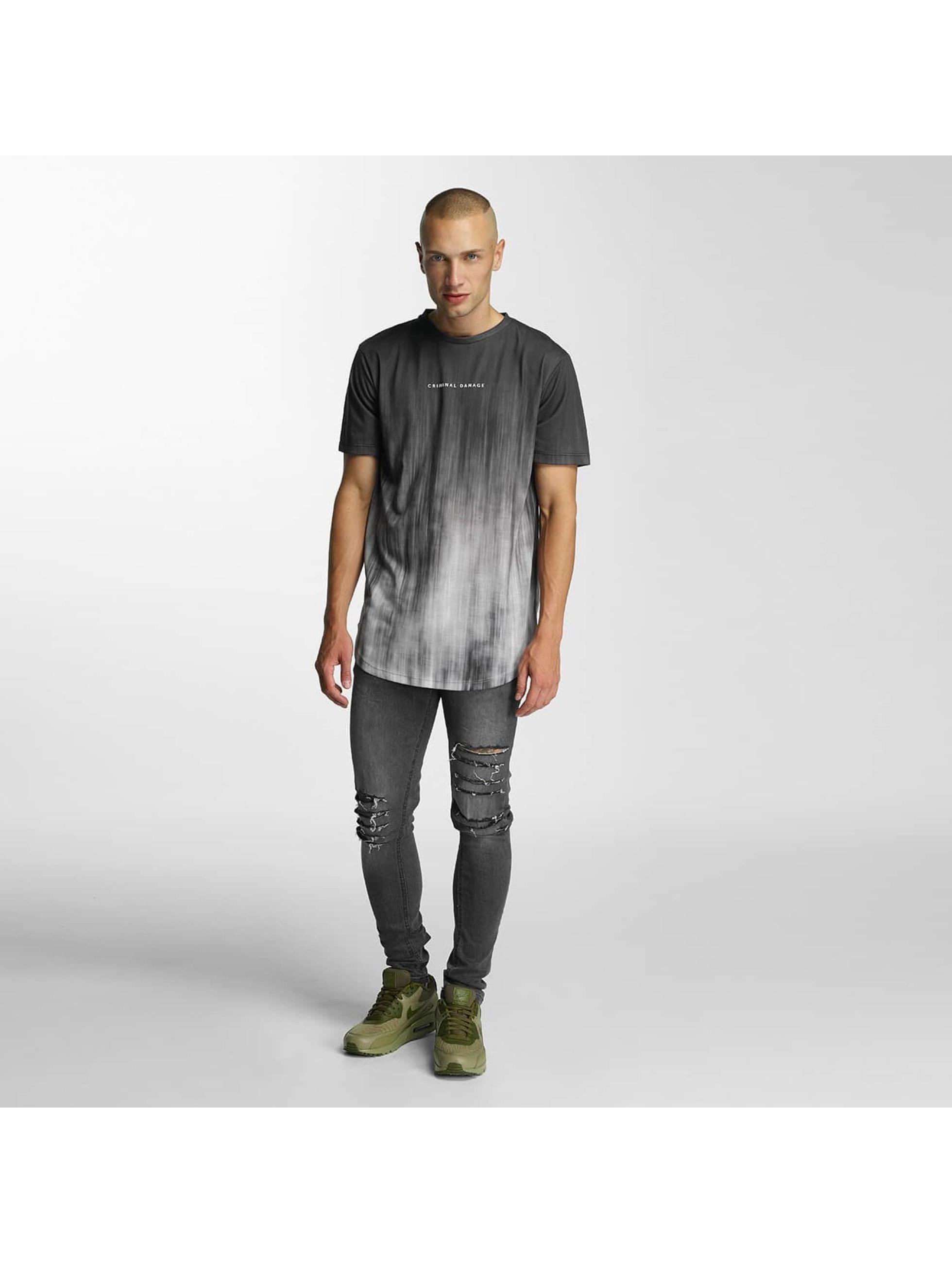 Criminal Damage T-skjorter Blure grå