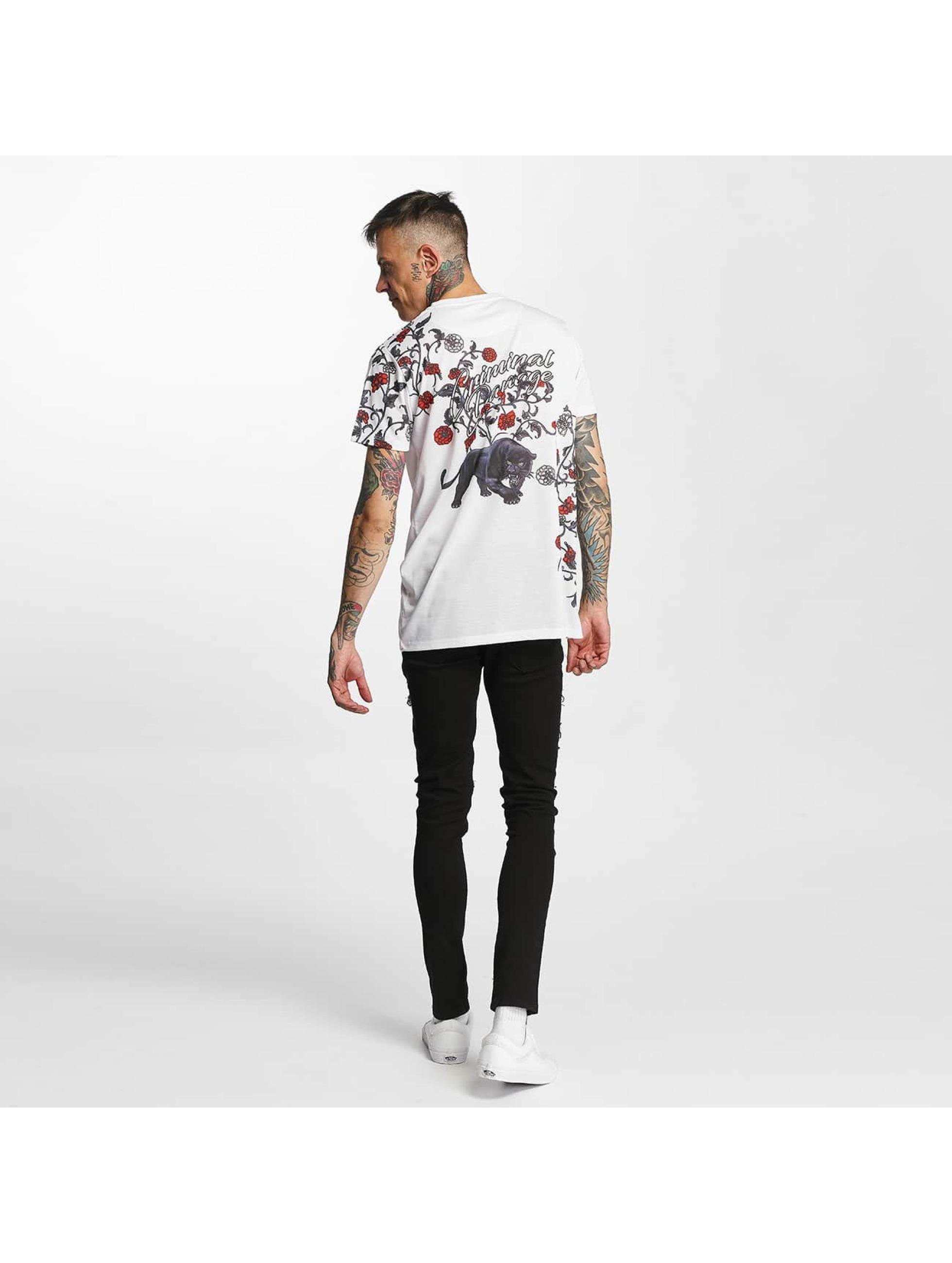 Criminal Damage T-skjorter Panther hvit