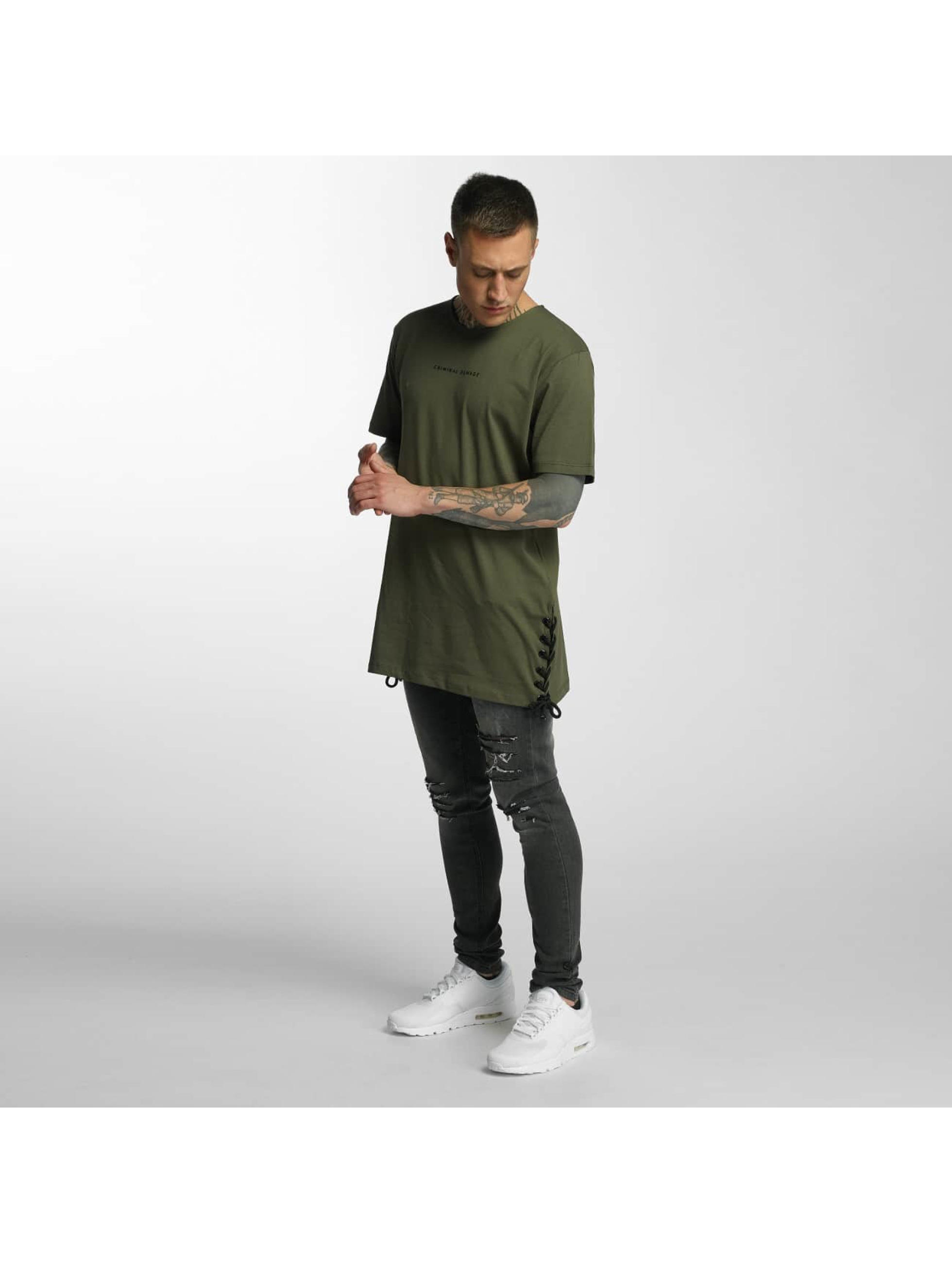 Criminal Damage T-skjorter Lace oliven