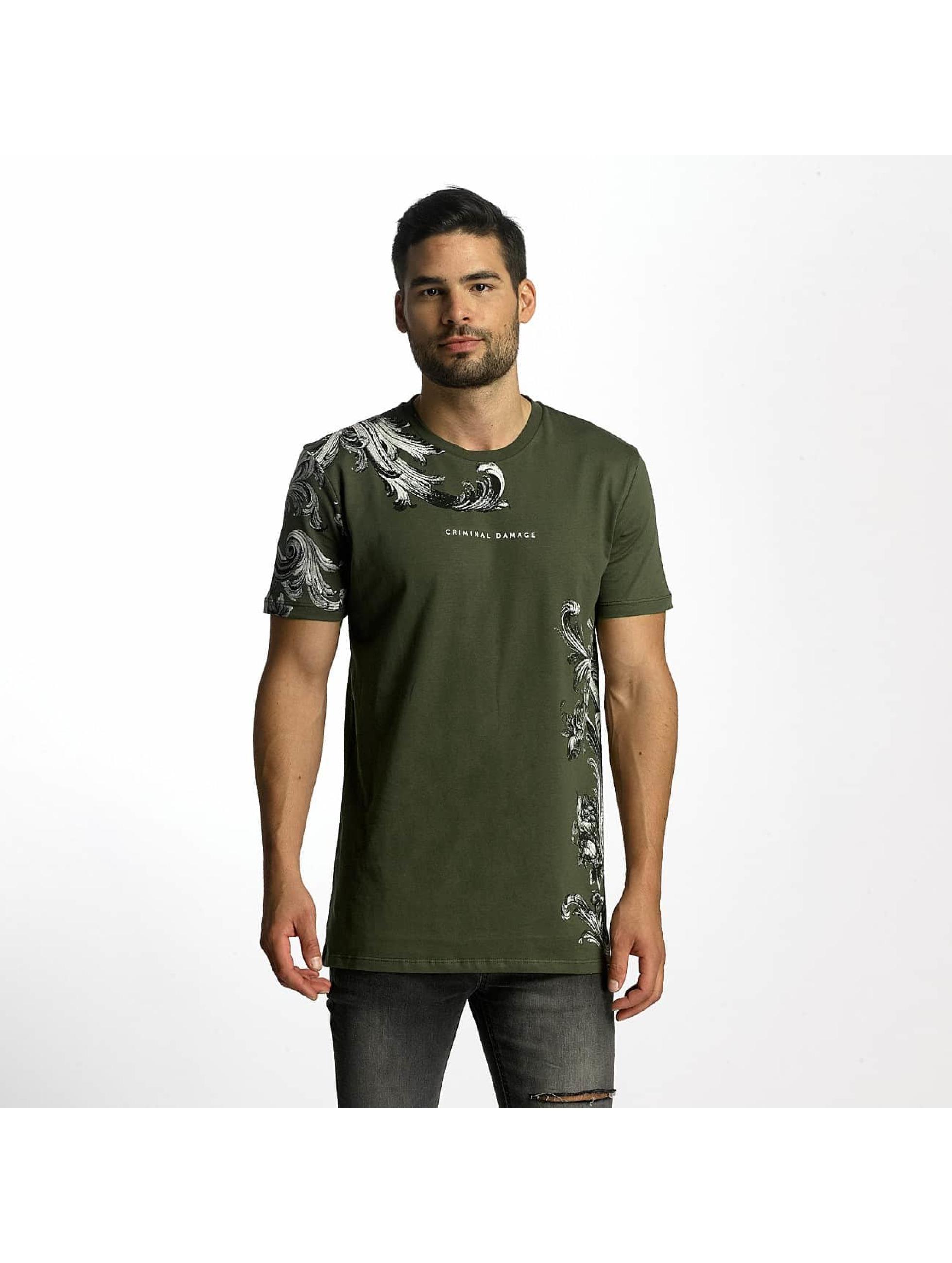 Criminal Damage T-skjorter Paulo oliven