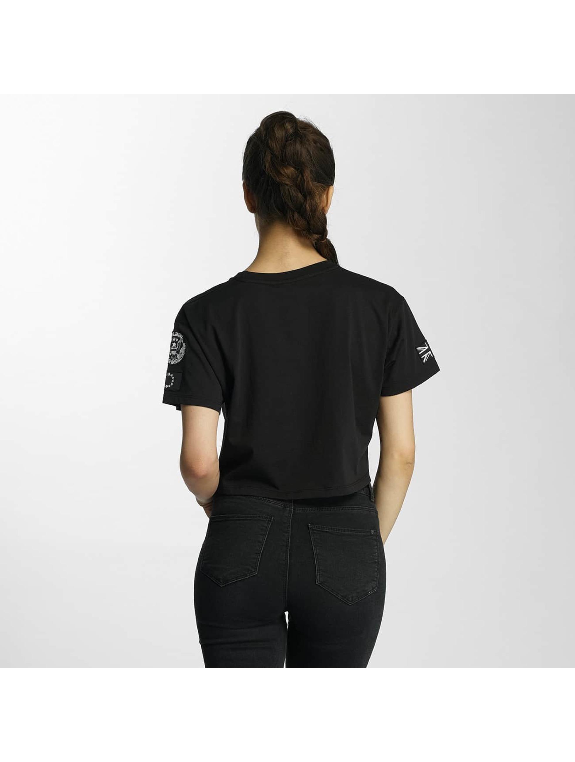 Criminal Damage T-skjorter Aperture Crop svart