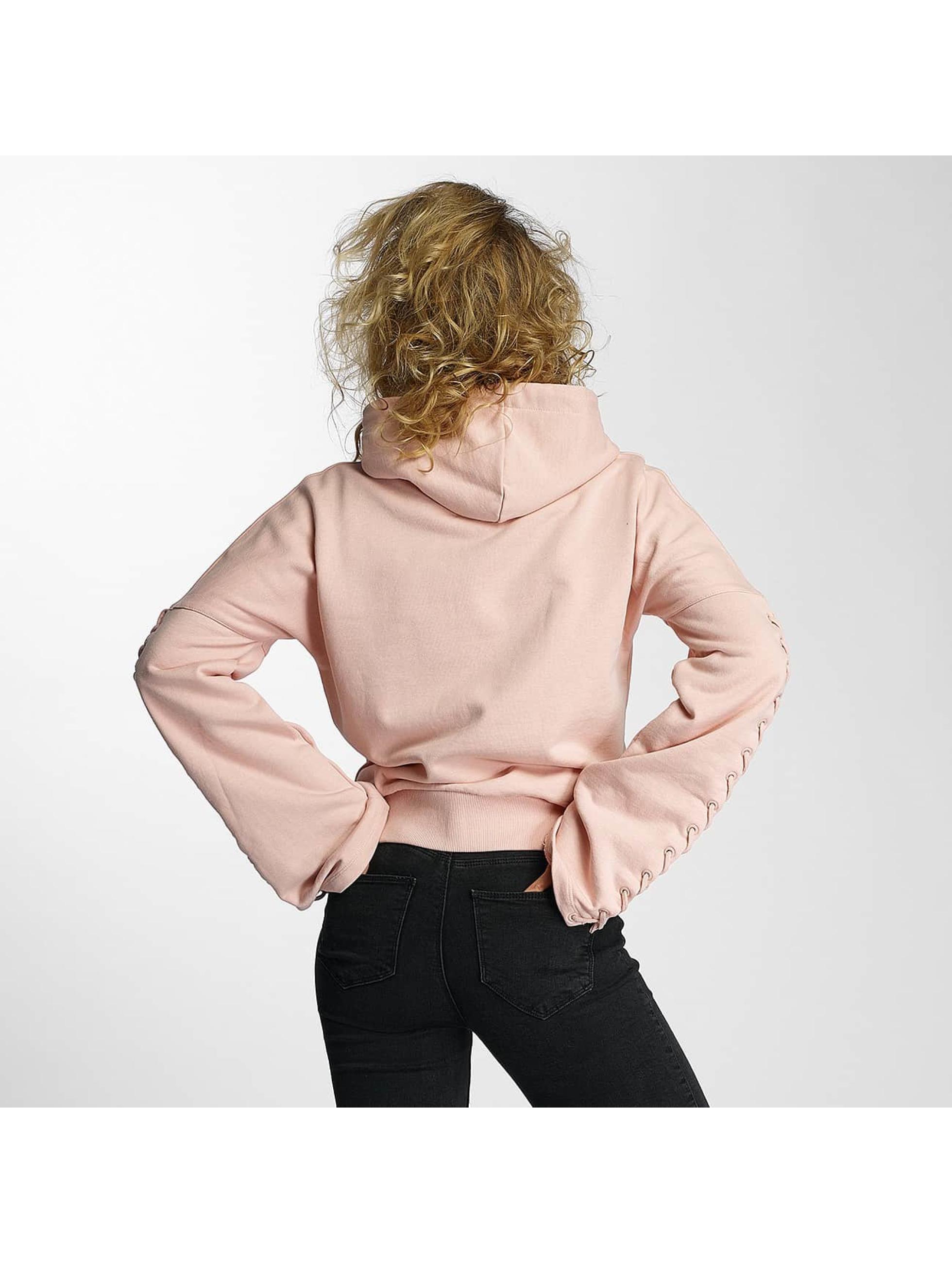 Criminal Damage Zip Hoodie Lacere rosa
