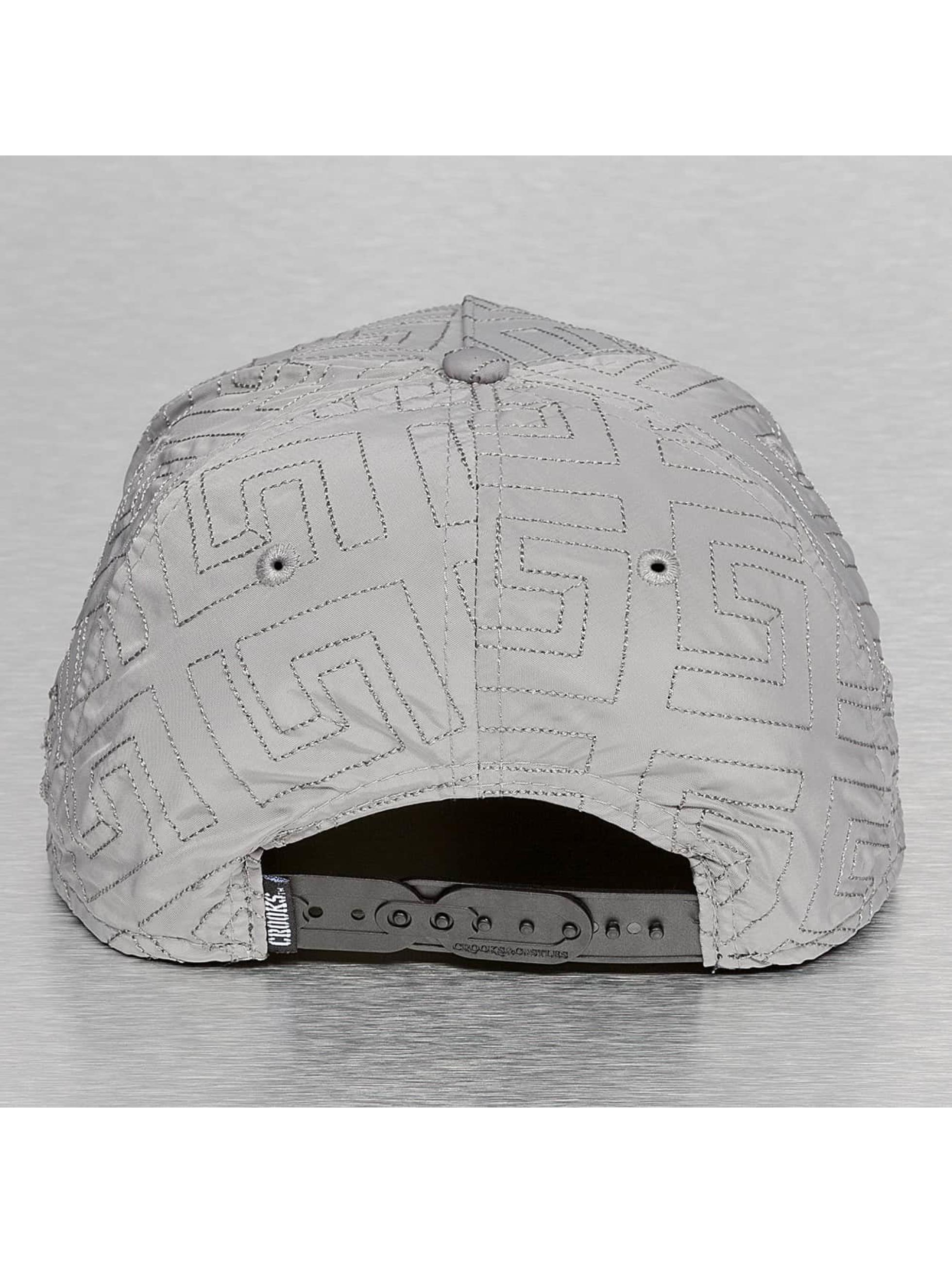 Crooks & Castles Casquette Snapback & Strapback Greco Quilt gris