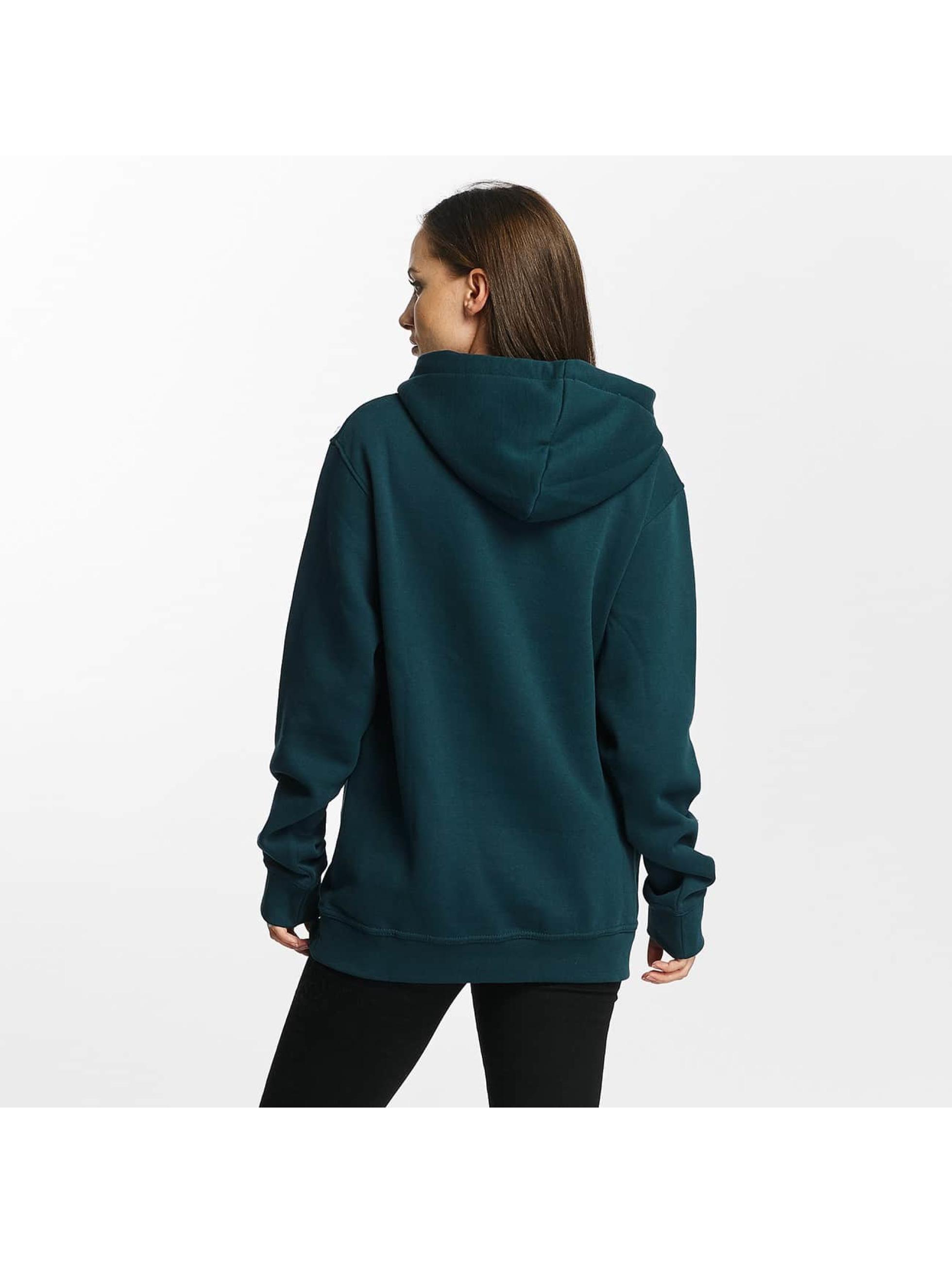 Cyprime Bluzy z kapturem Cyber Oversized turkusowy