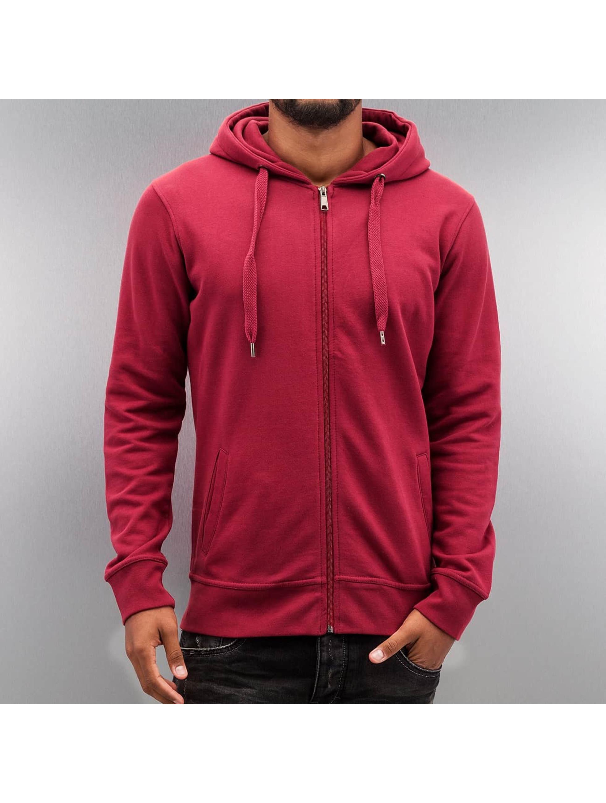 Zip Hoodie Basic in rot