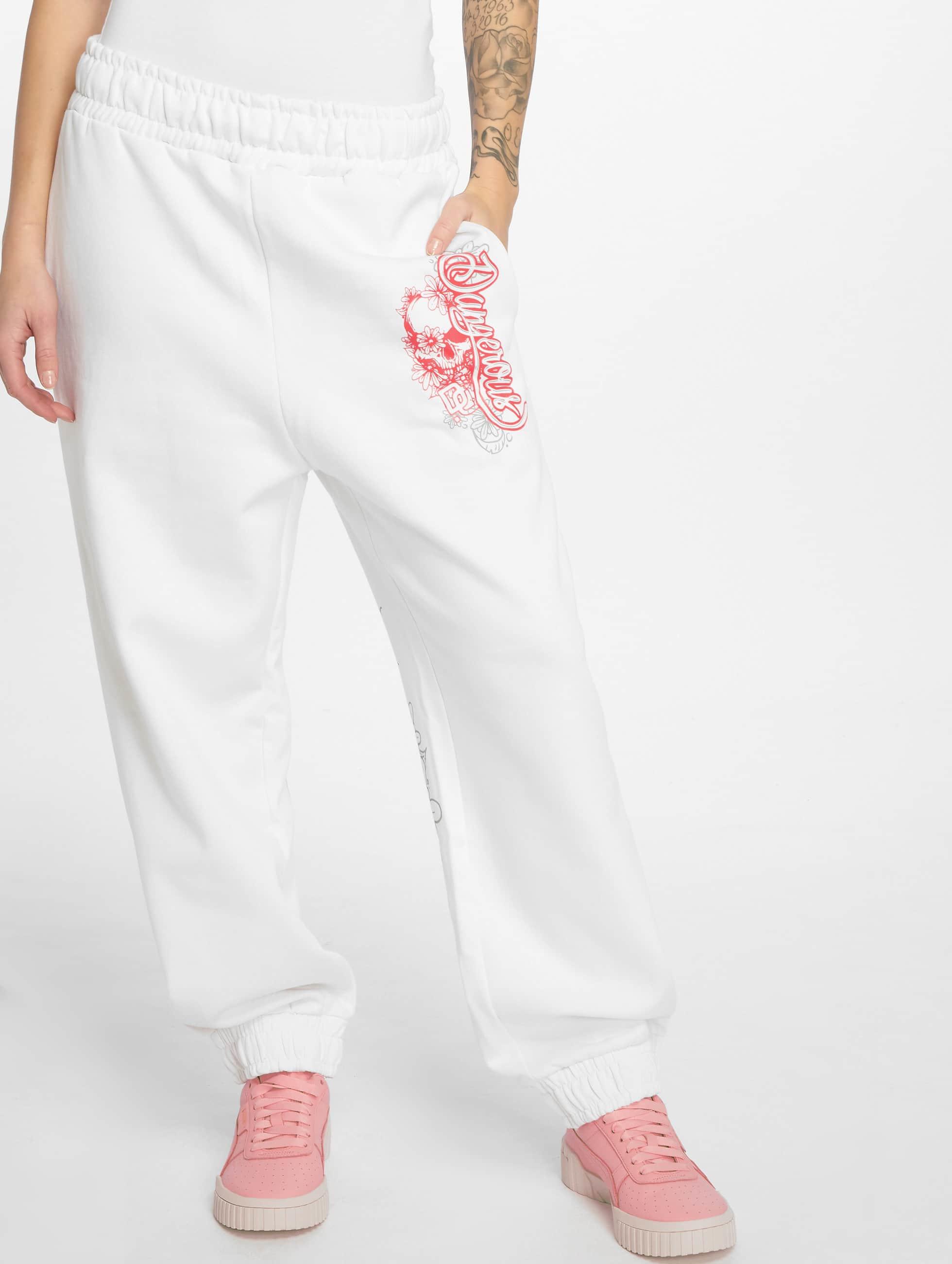 Dangerous DNGRS Спортивные брюки Pink белый