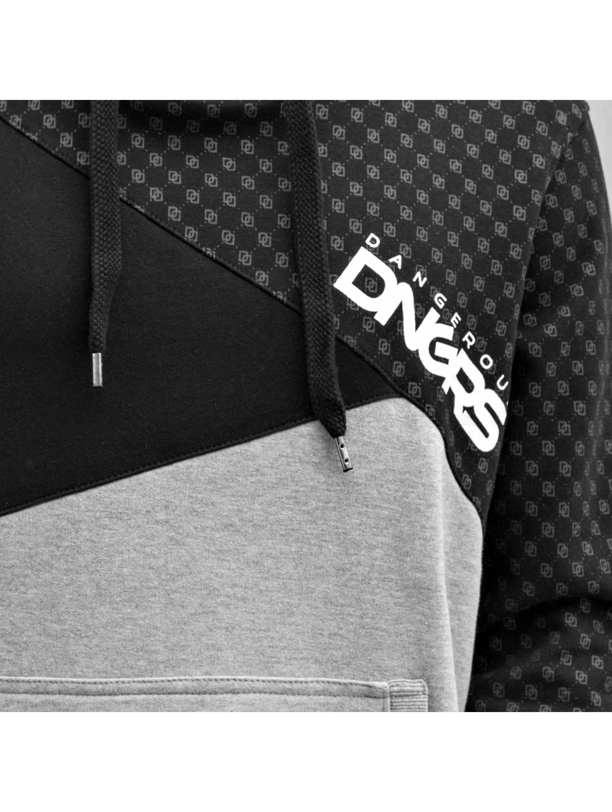 Dangerous DNGRS Bluzy z kapturem Symbols czarny
