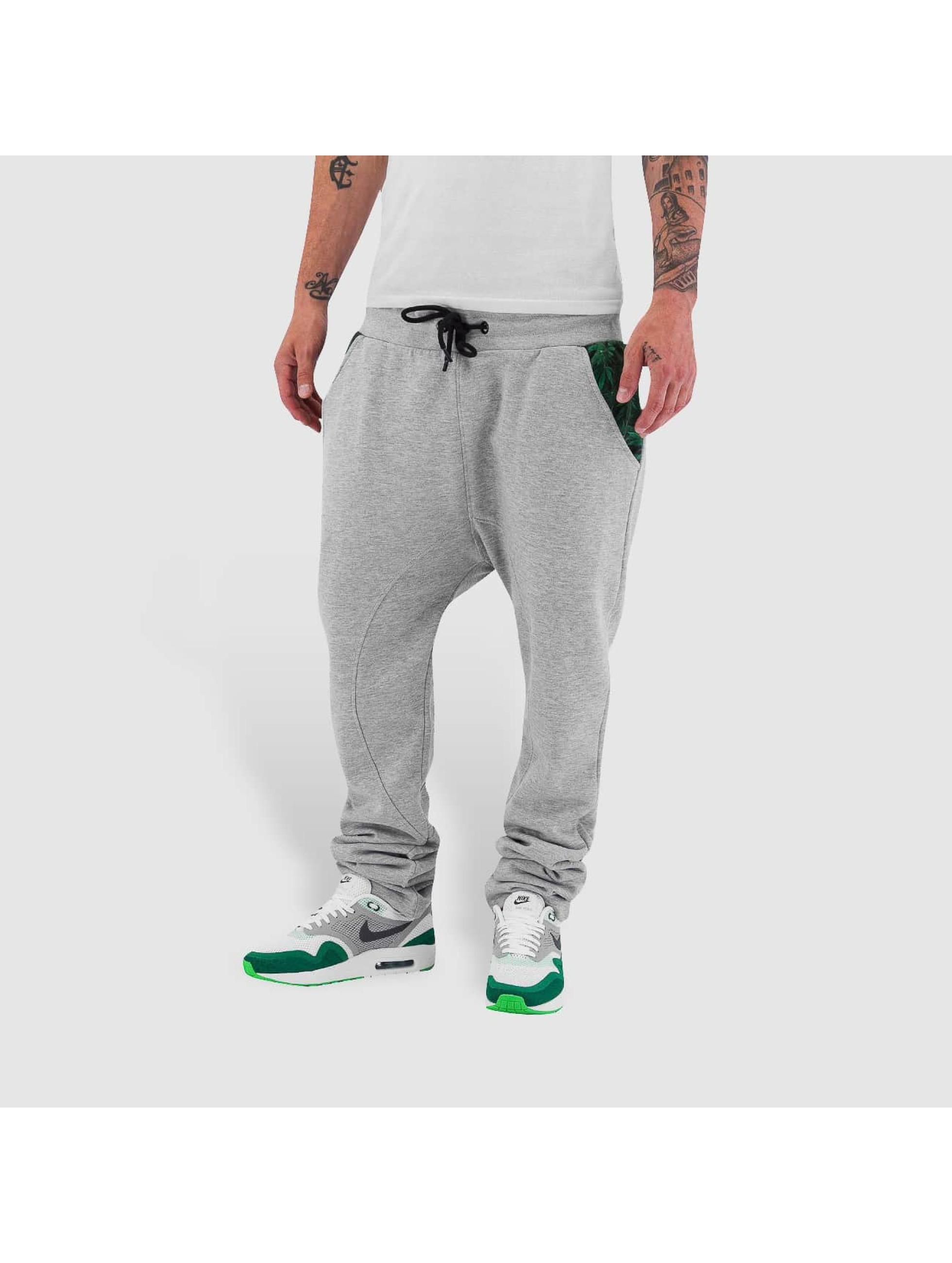 Dangerous DNGRS joggingbroek Weed grijs