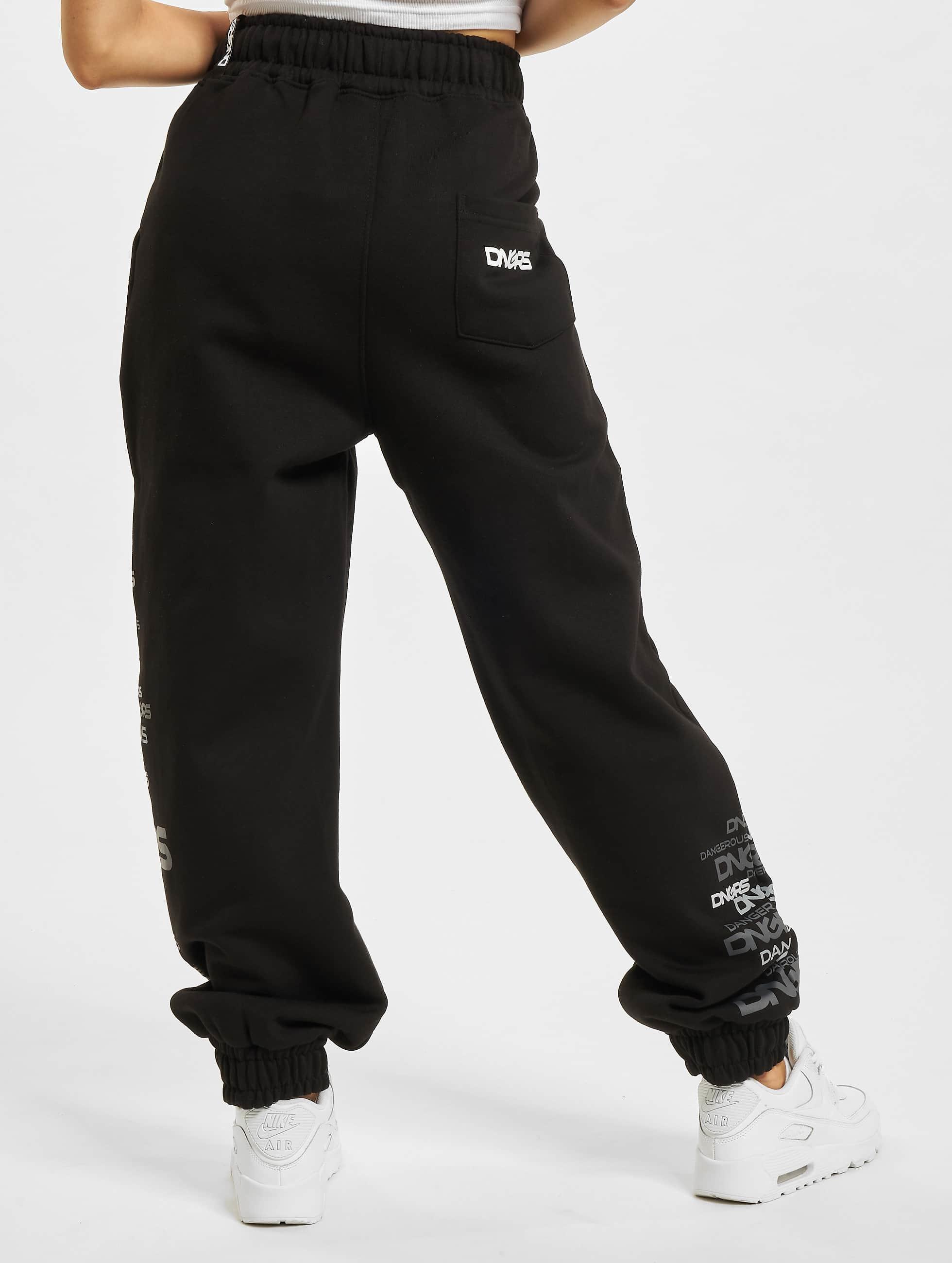 Dangerous DNGRS joggingbroek Logo zwart