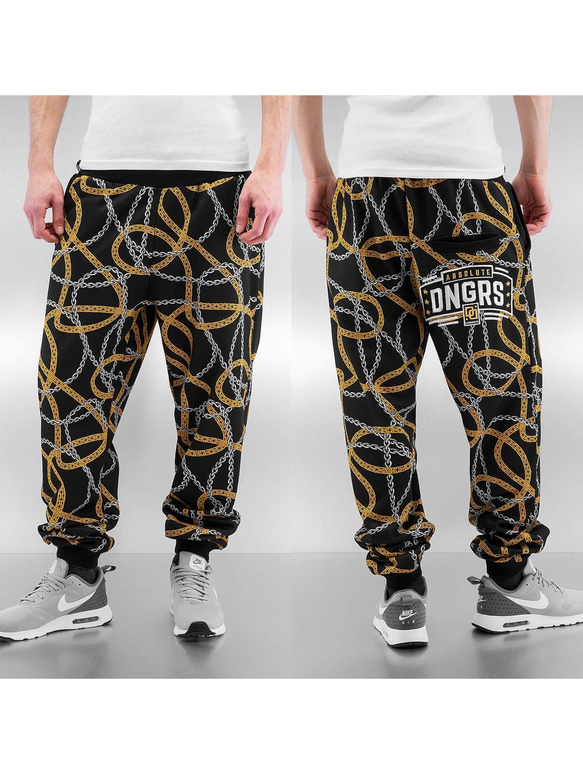 Dangerous DNGRS joggingbroek Chains zwart