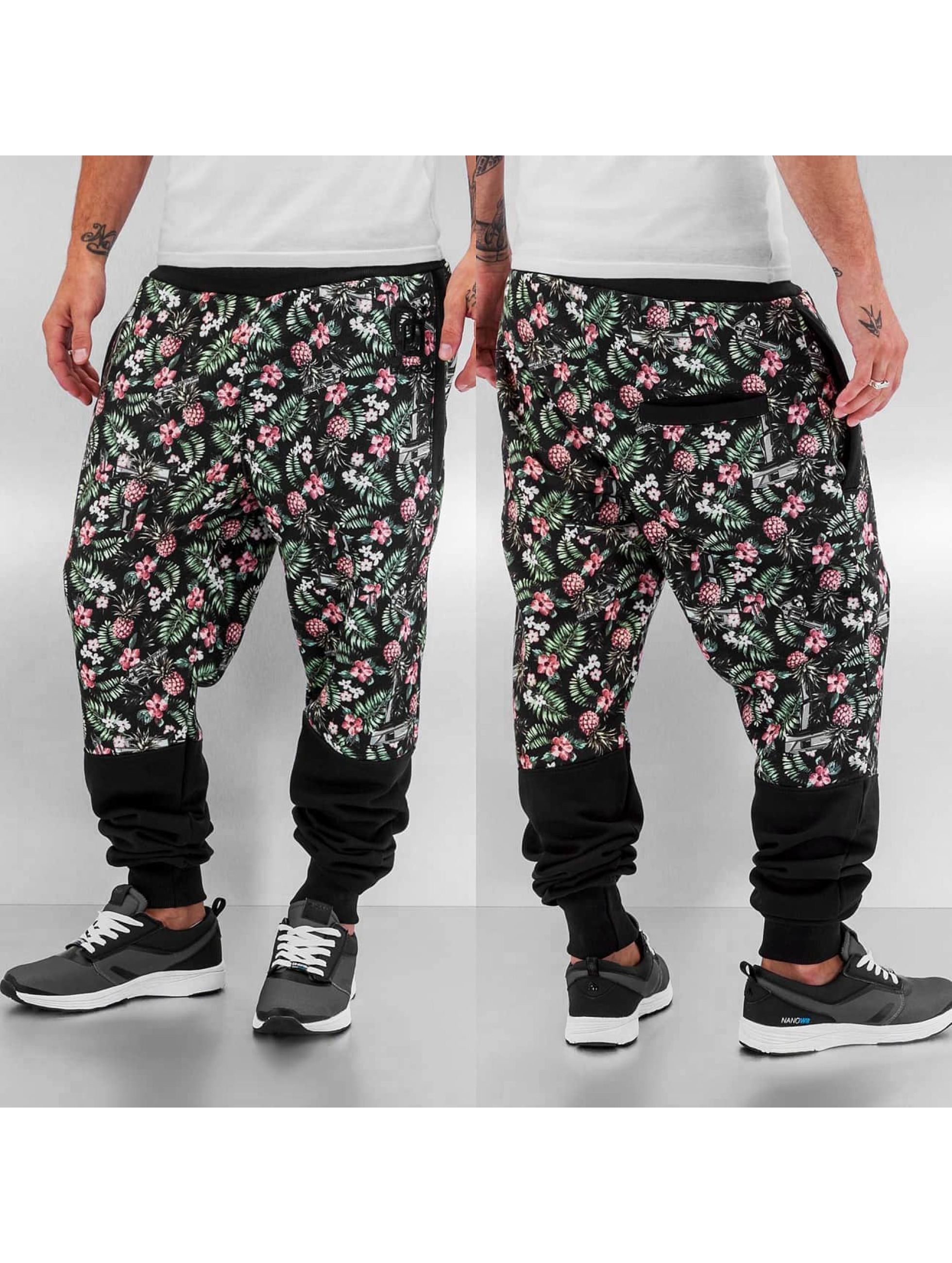 Jogginghose Flowers And Guns in schwarz