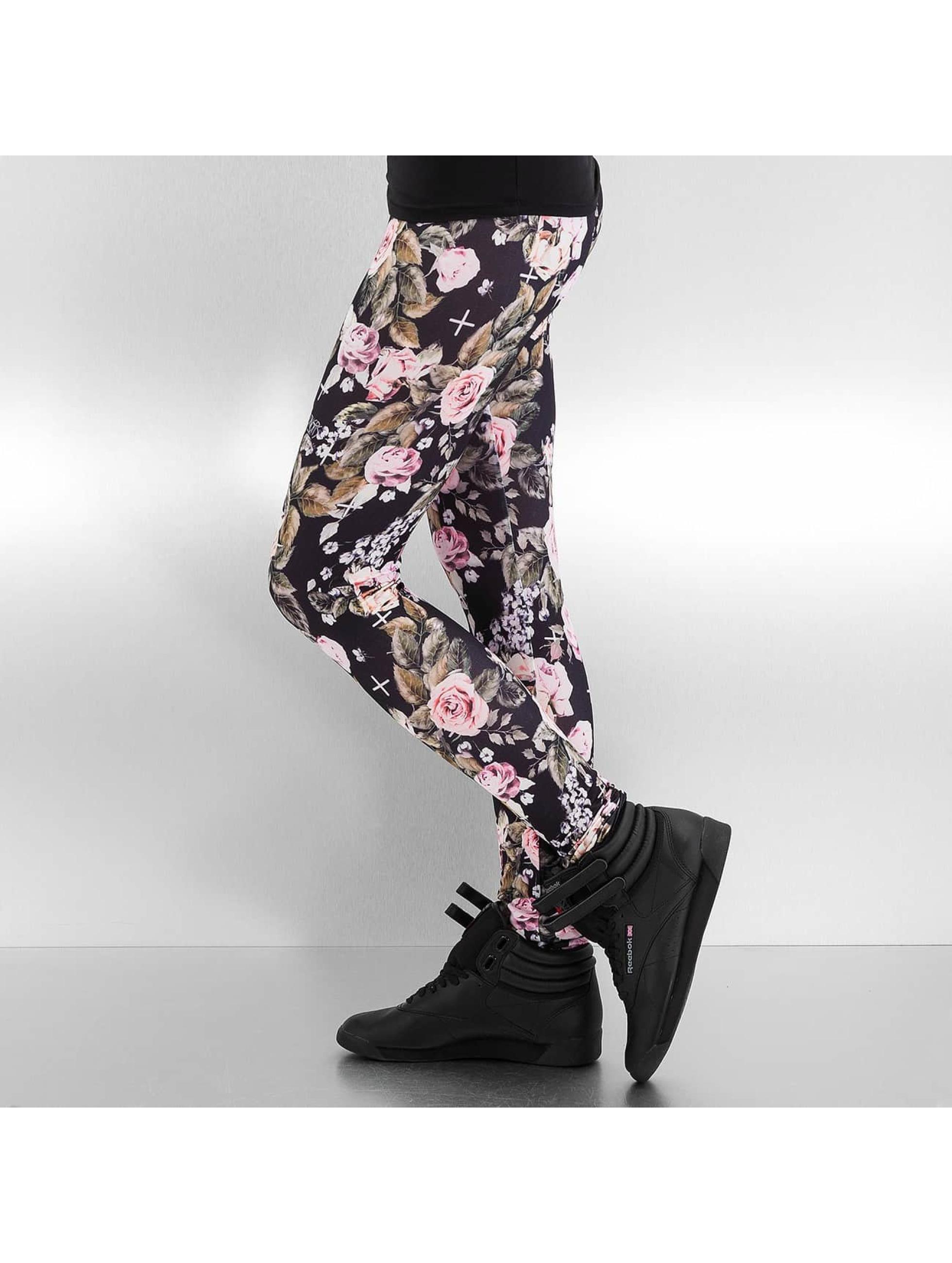 Dangerous DNGRS Legging/Tregging Flower negro