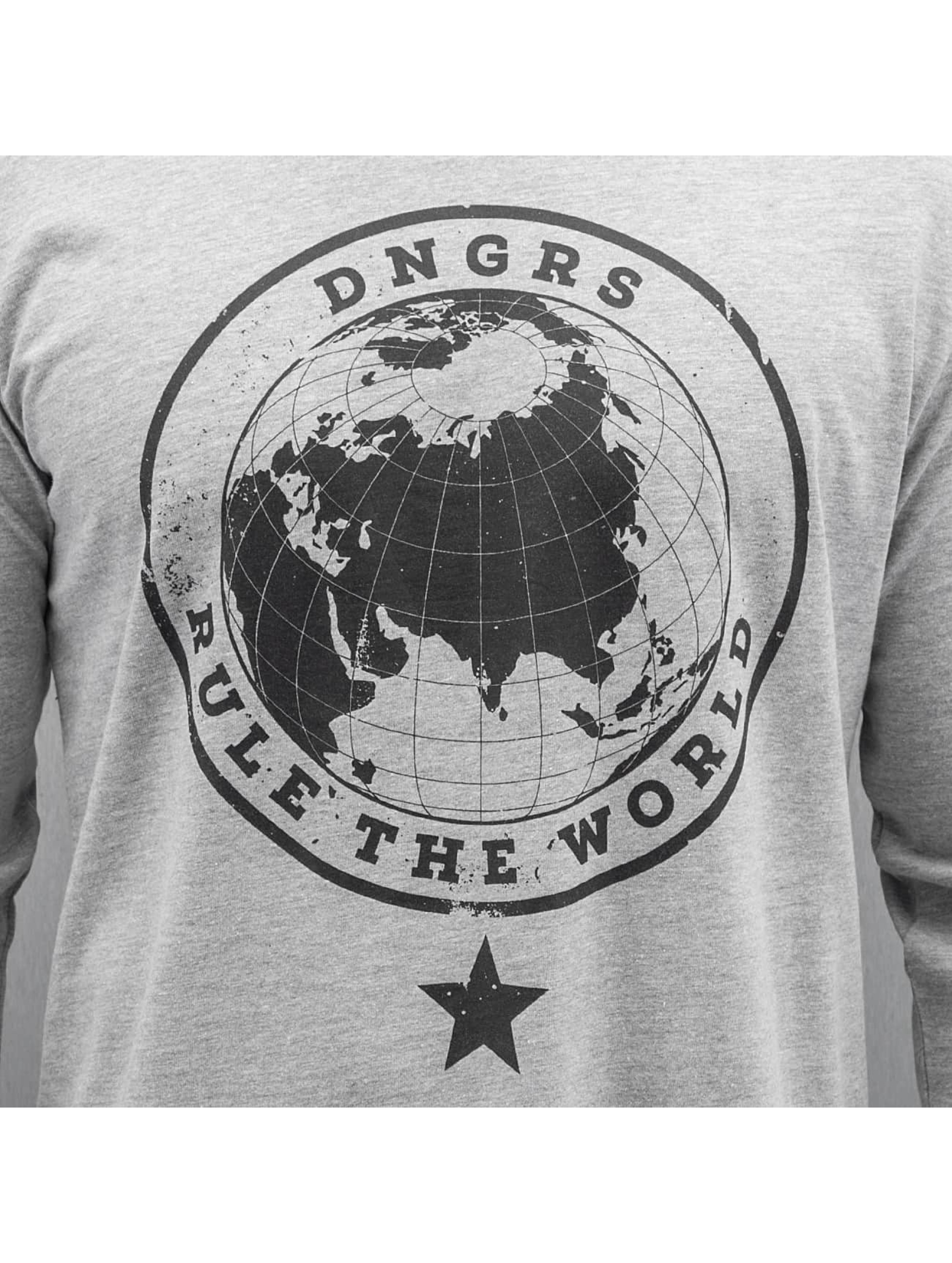 Dangerous DNGRS Longsleeve Rule The World grau