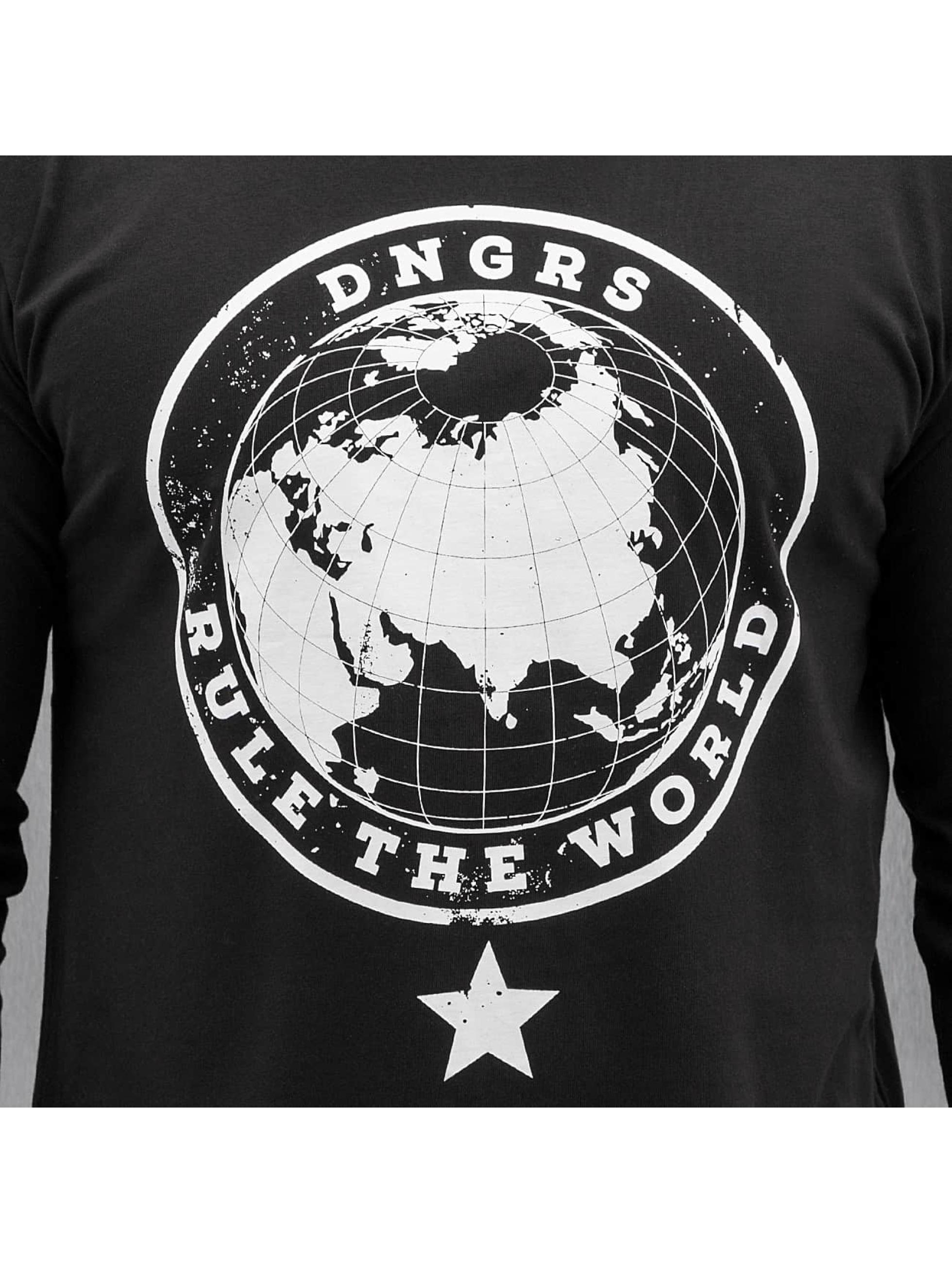 Dangerous DNGRS Pitkähihaiset paidat Rule The World musta
