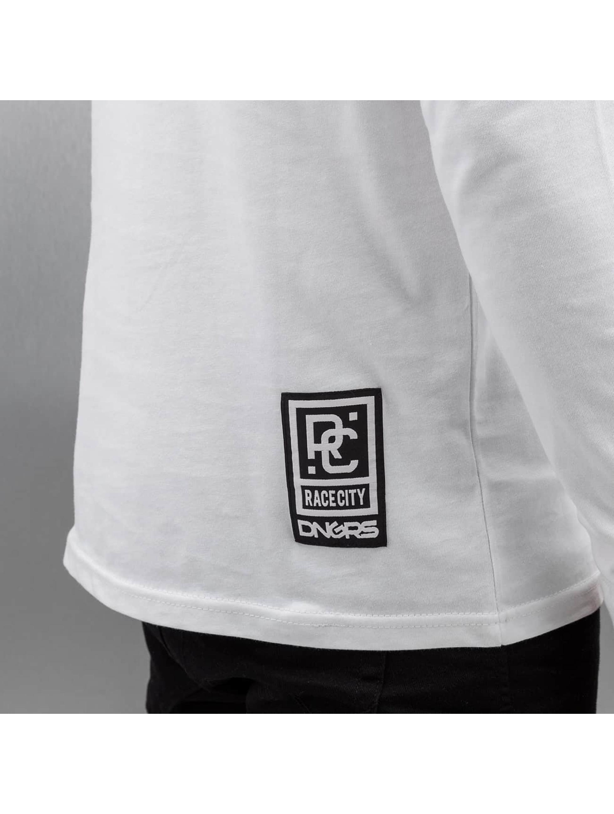 Dangerous DNGRS Pitkähihaiset paidat Logo Race City valkoinen