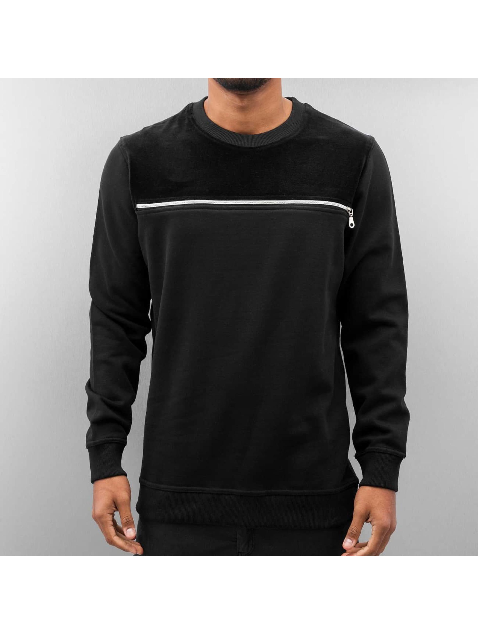 Pullover Samt in schwarz