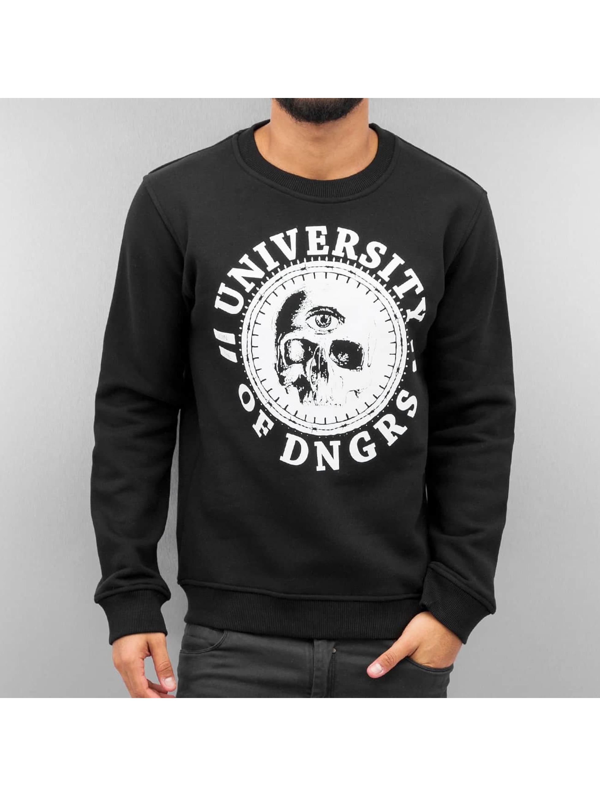 Dangerous DNGRS Pullover University Of DNGRS schwarz