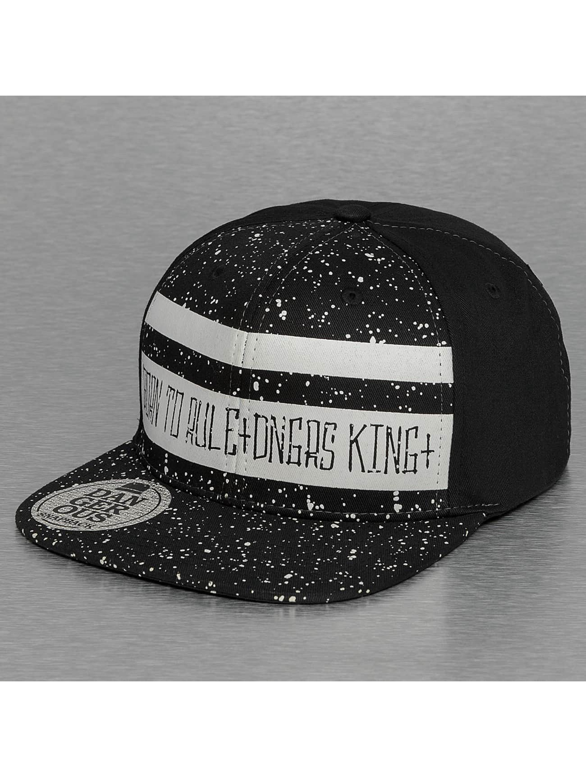 Dangerous DNGRS Snapback Cap Born To Rule schwarz