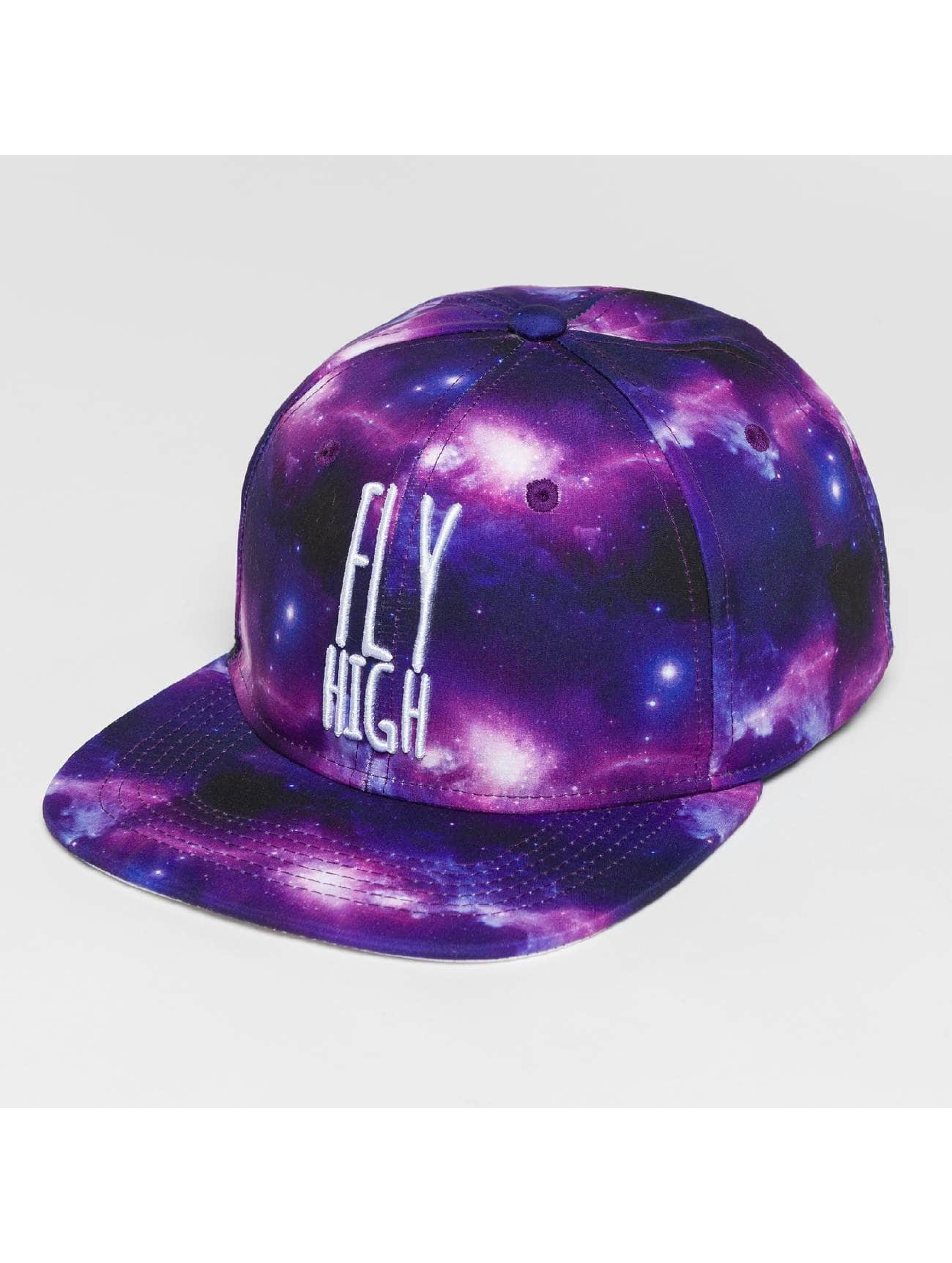 Dangerous DNGRS Snapback Cap Galaxy Fly High violet