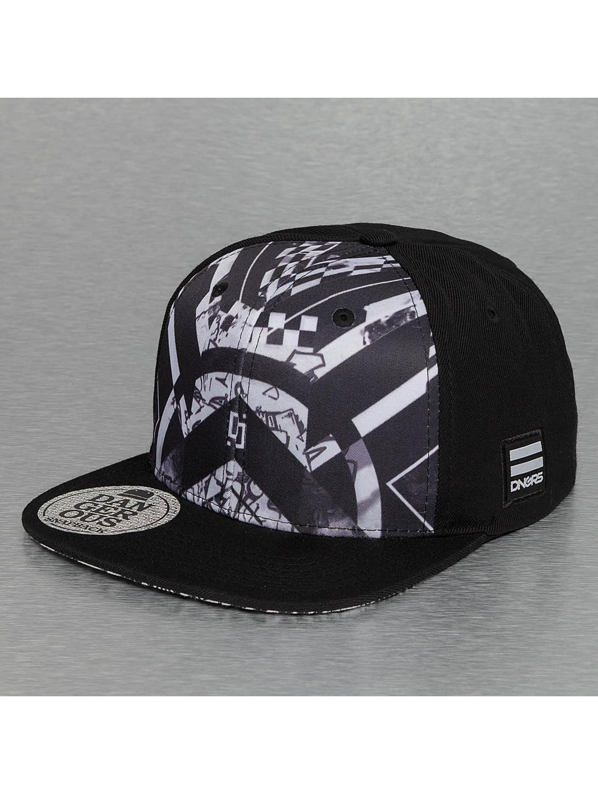 Dangerous DNGRS snapback cap Shadow zwart