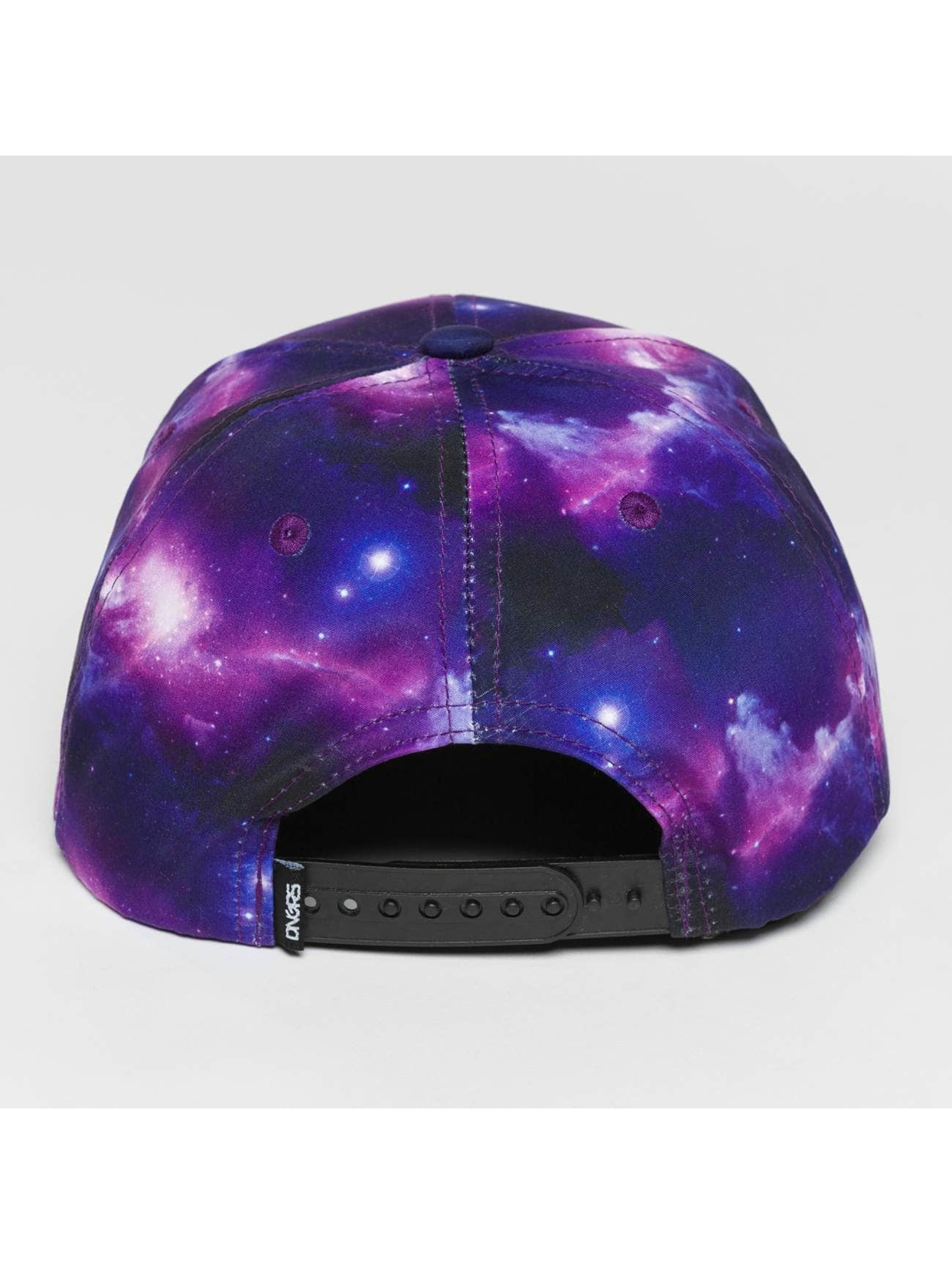 Dangerous DNGRS Snapback Caps Galaxy Fly High purpuranpunainen