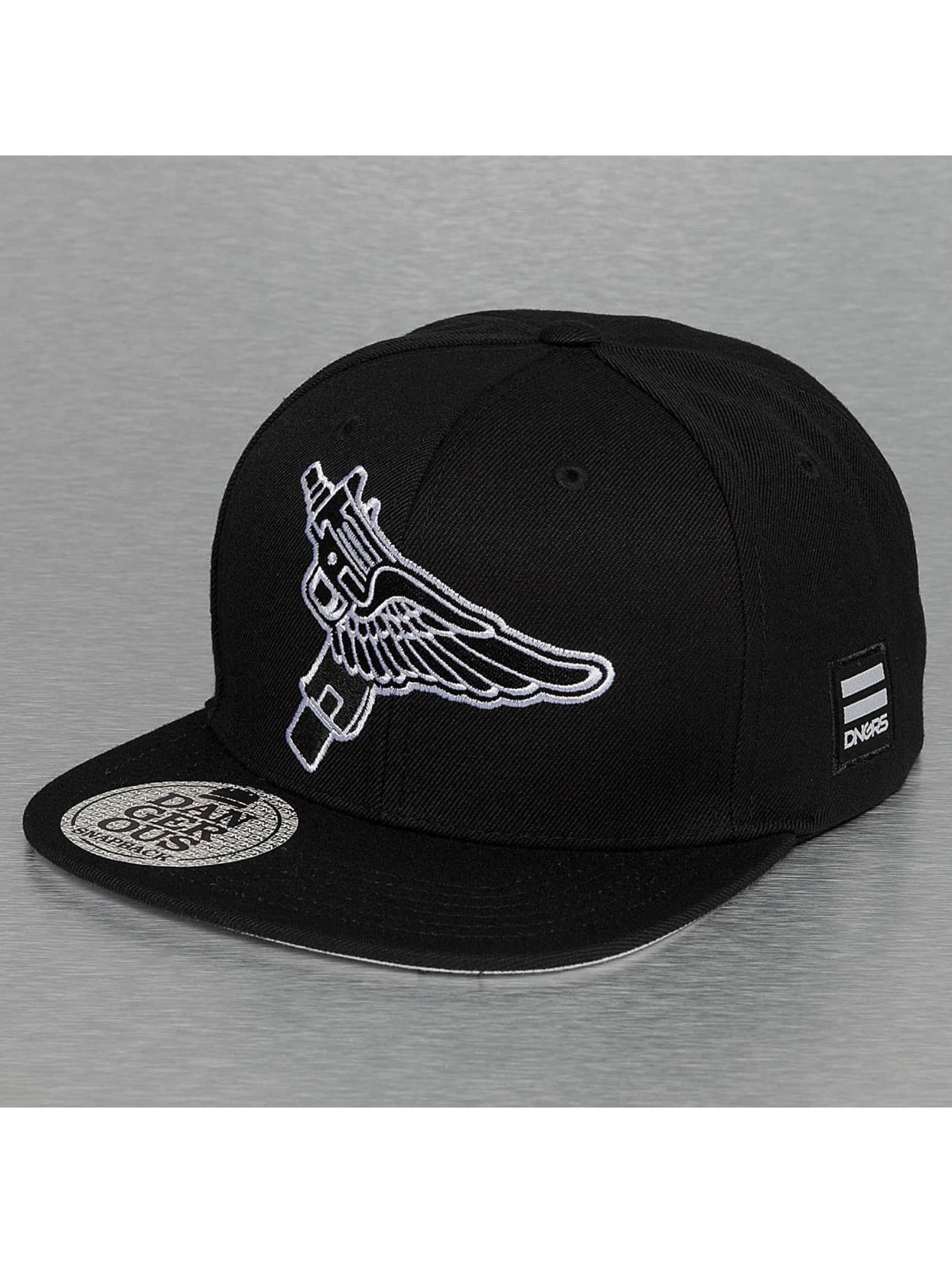 Dangerous DNGRS Snapback Caps Flying Uzi svart