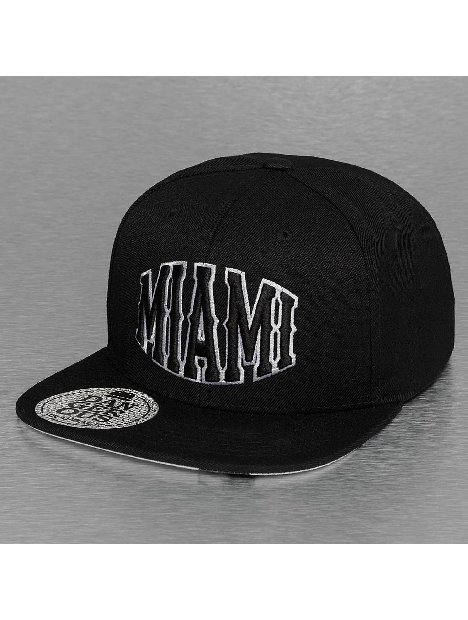 Dangerous DNGRS Snapback Caps Miami svart