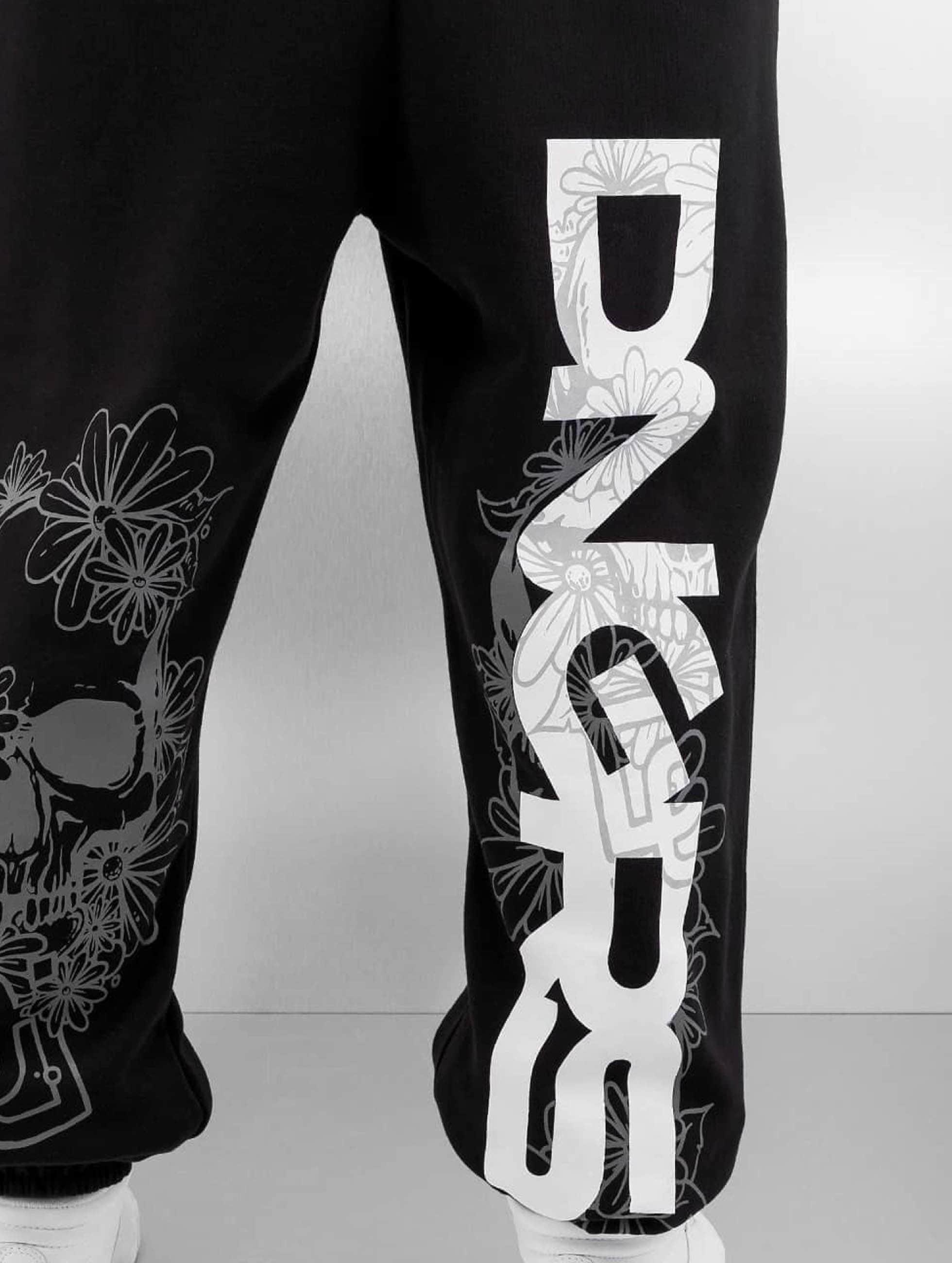 Dangerous DNGRS Spodnie do joggingu Flower czarny