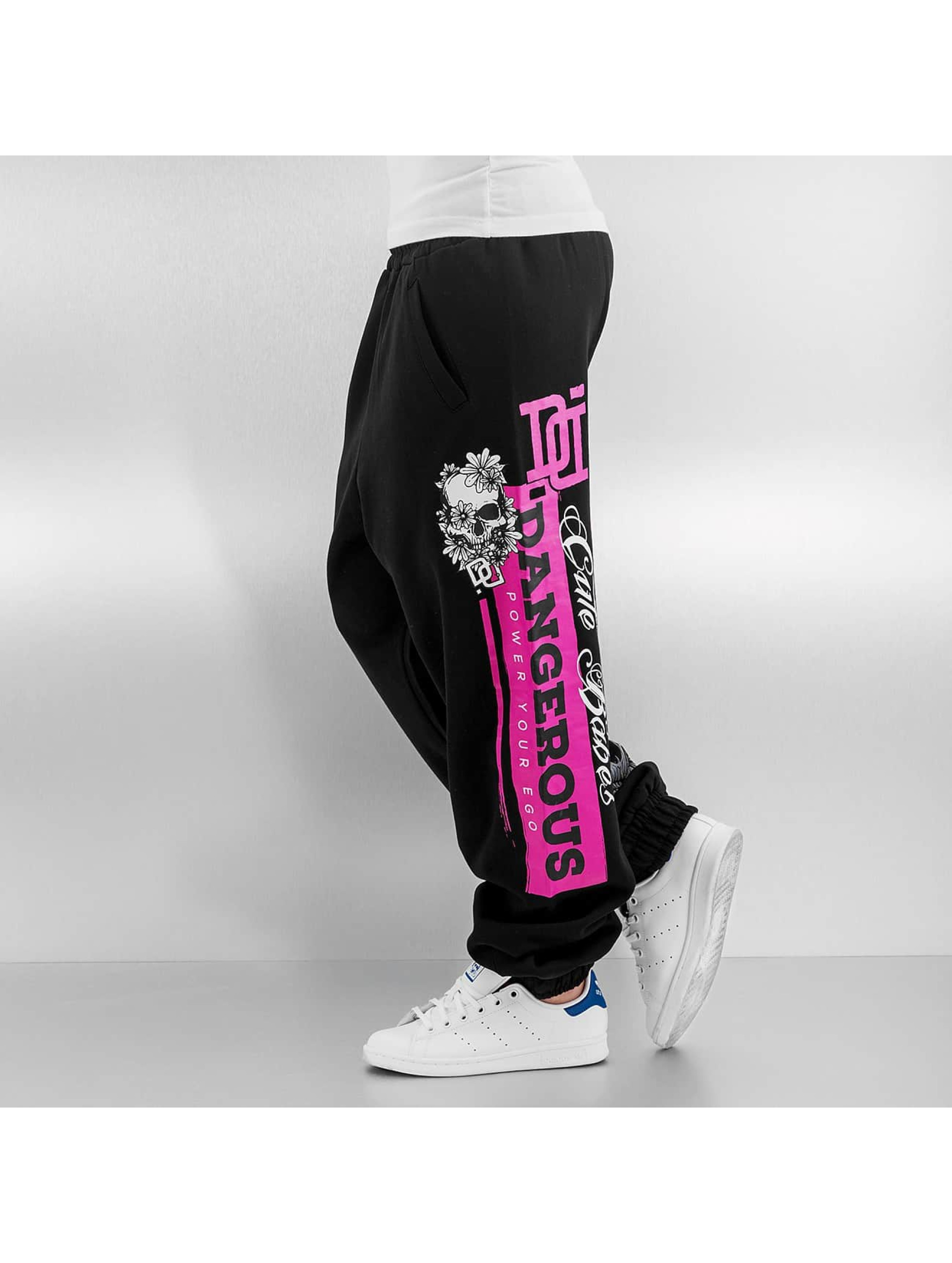 Dangerous DNGRS Spodnie do joggingu Cute Babes czarny