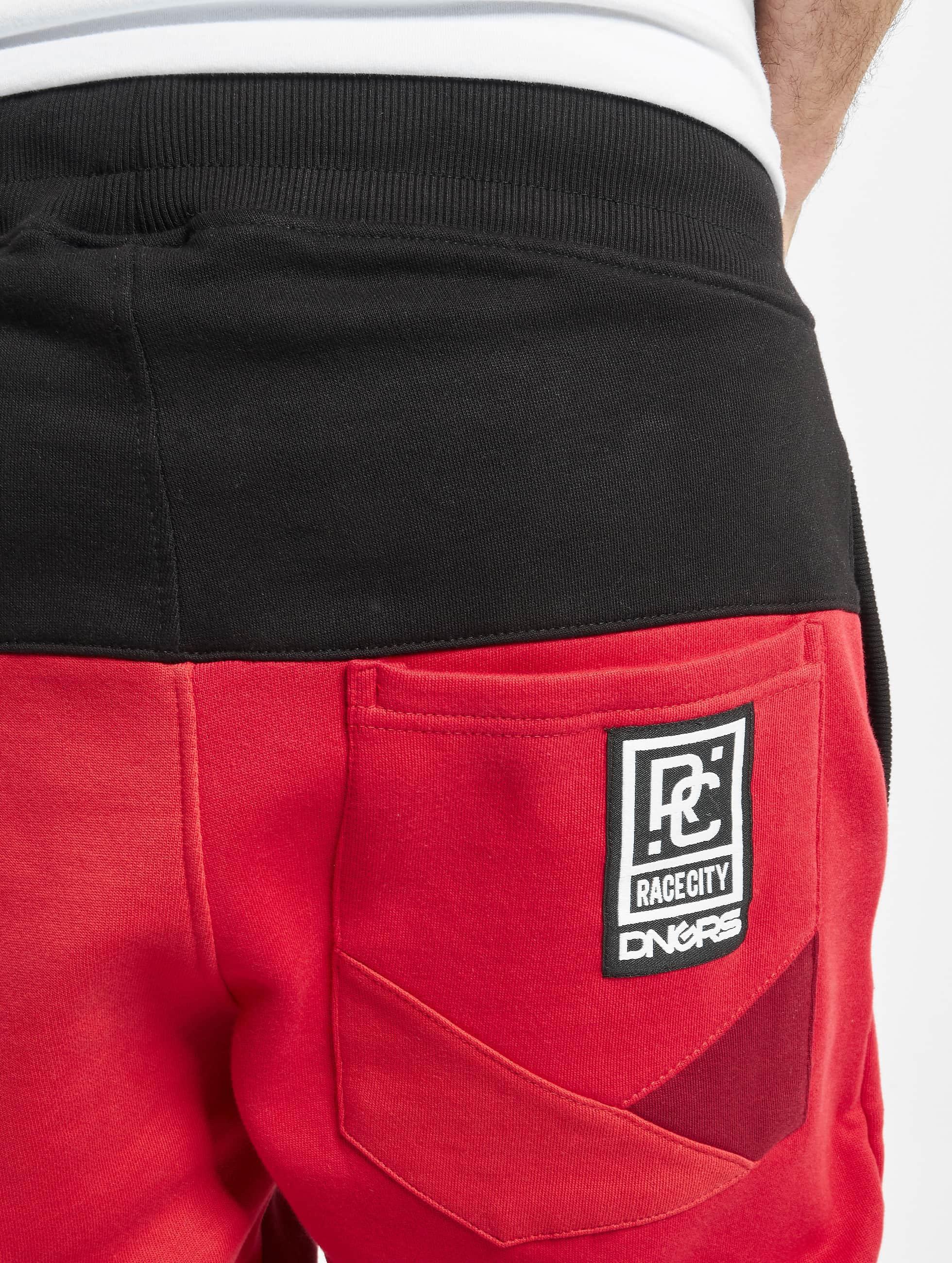 Dangerous DNGRS Spodnie do joggingu Locotay Race City czerwony