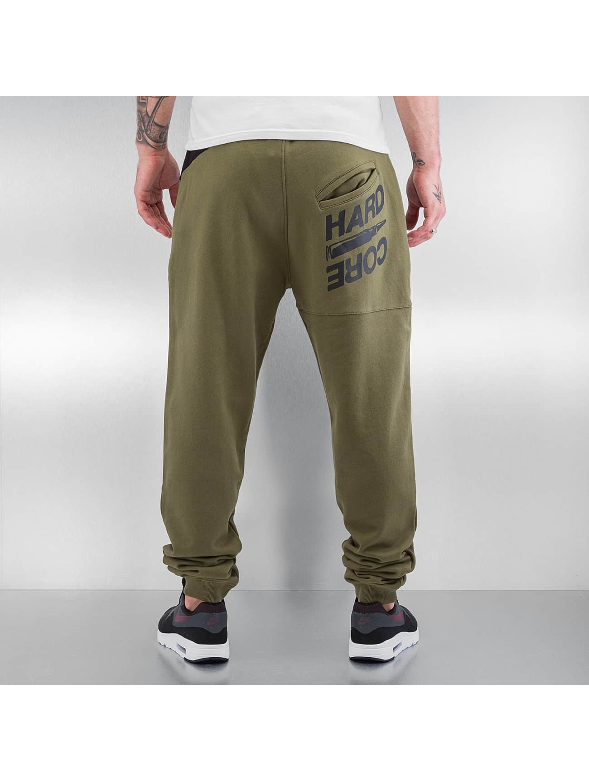 Dangerous DNGRS Spodnie do joggingu Hardcore oliwkowy
