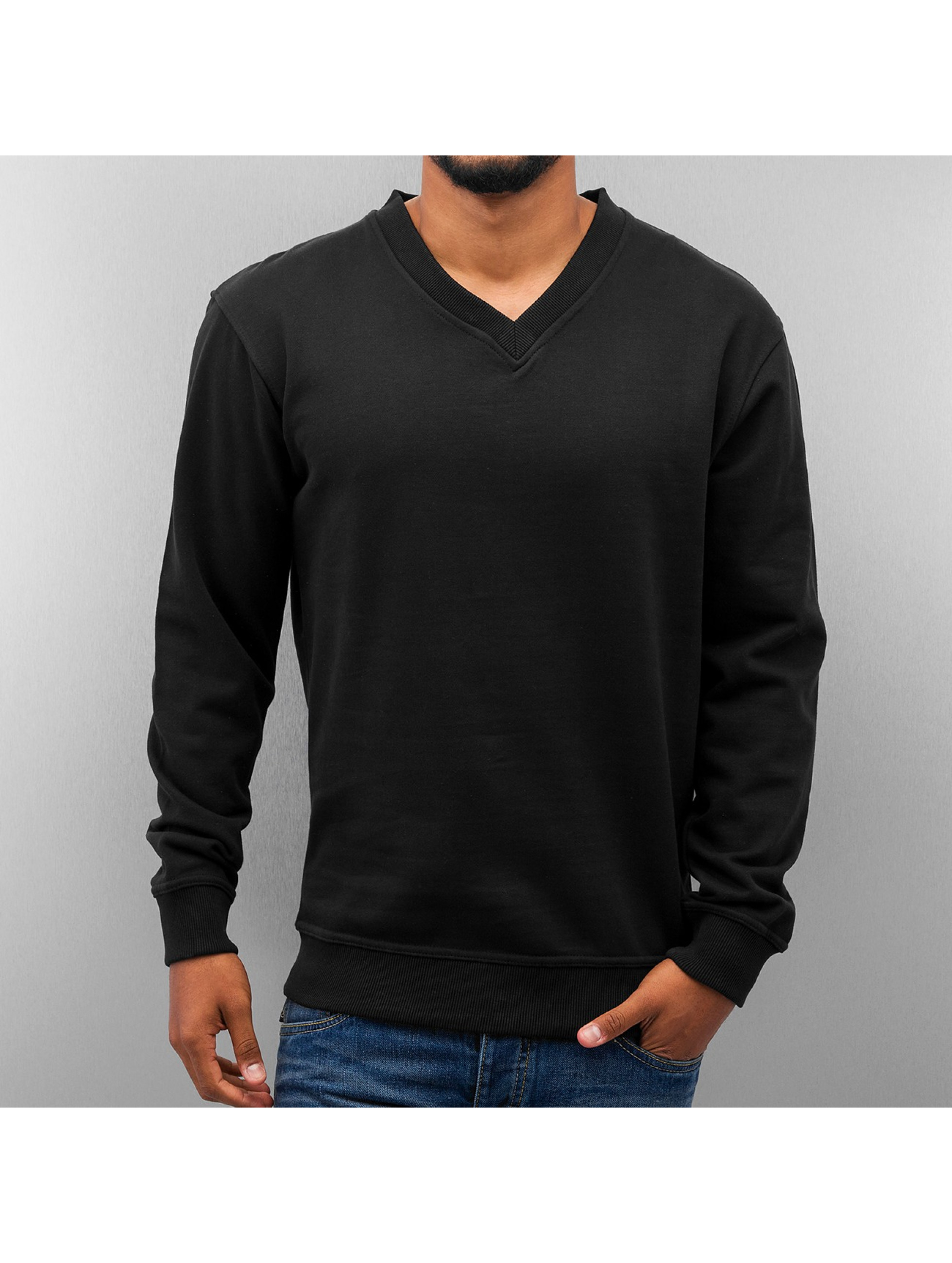 Dangerous DNGRS Sweat & Pull Basic V-Neck noir