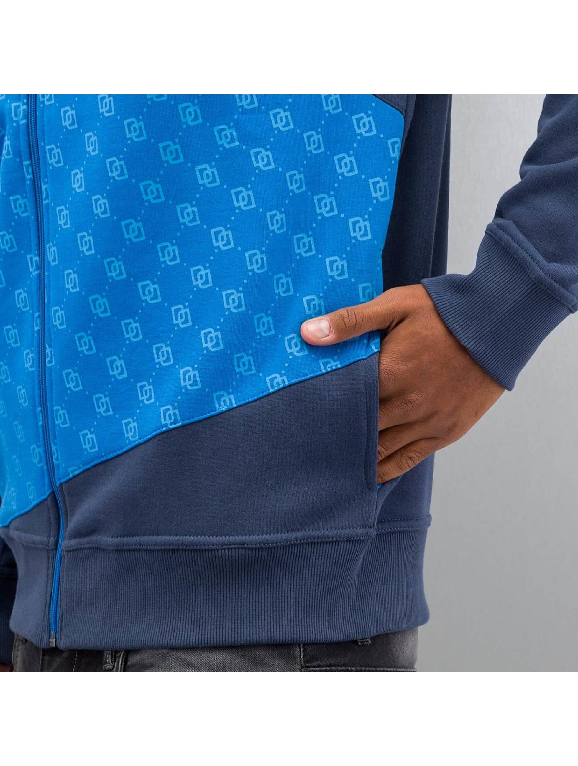 Dangerous DNGRS Sweat capuche zippé Front Logos bleu