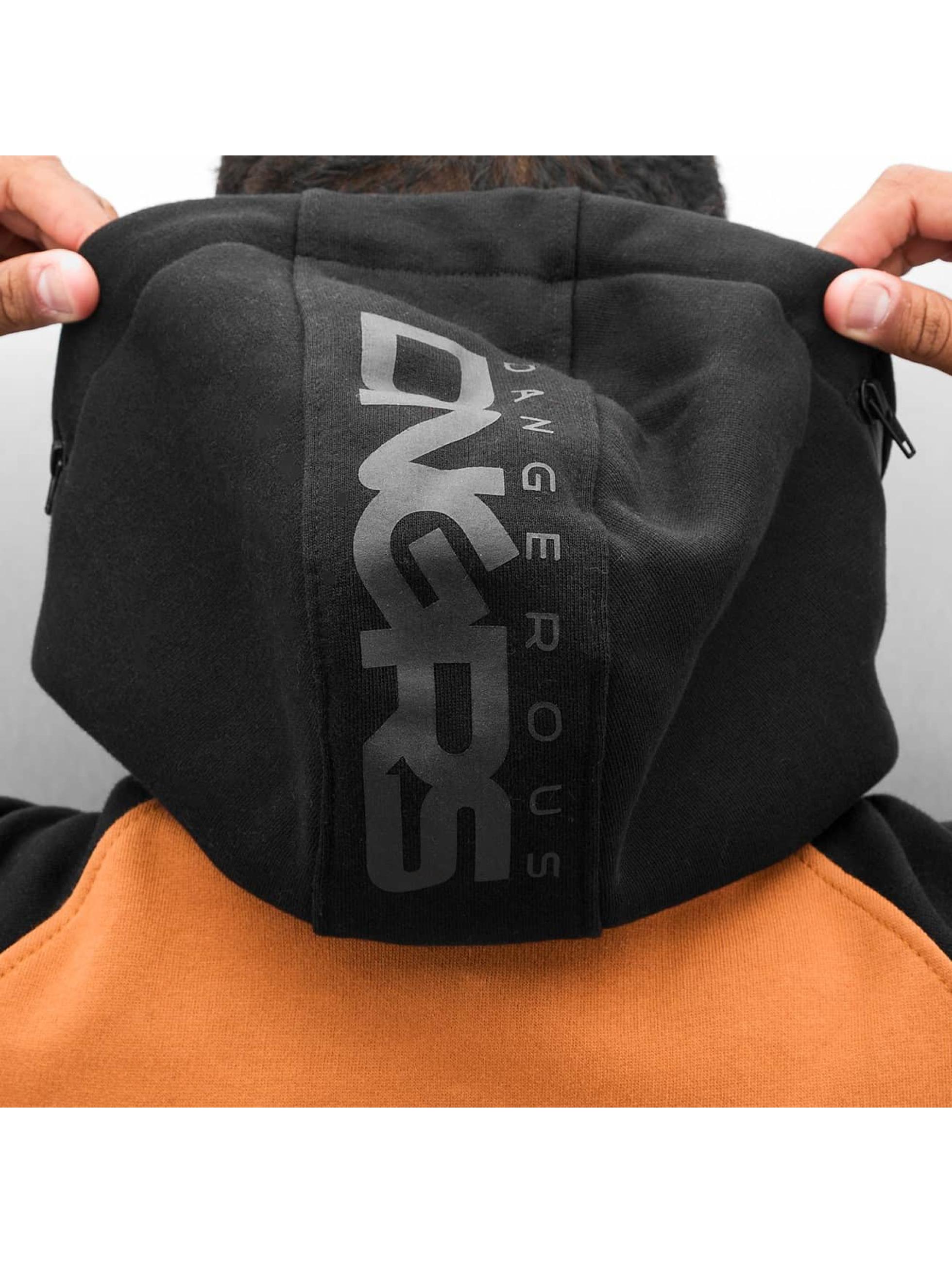 Dangerous DNGRS Sweat capuche zippé DGZH044 brun