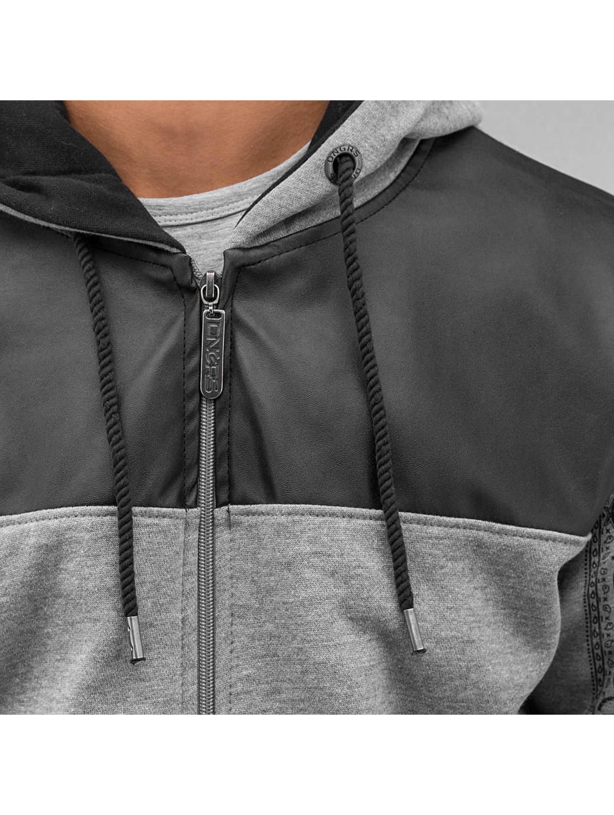Dangerous DNGRS Sweat capuche zippé Paisley gris