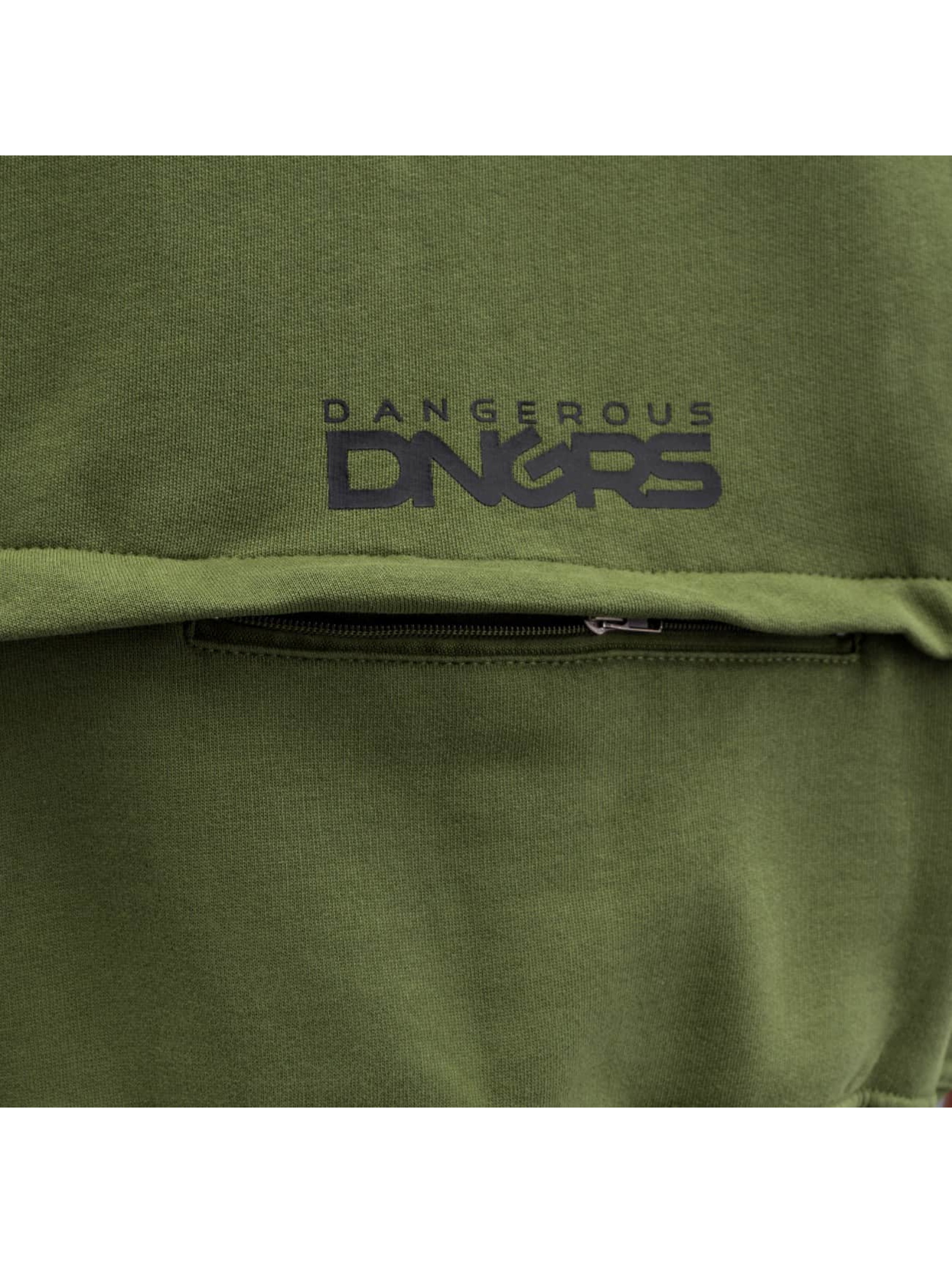 Dangerous DNGRS Sweat capuche zippé Halil olive