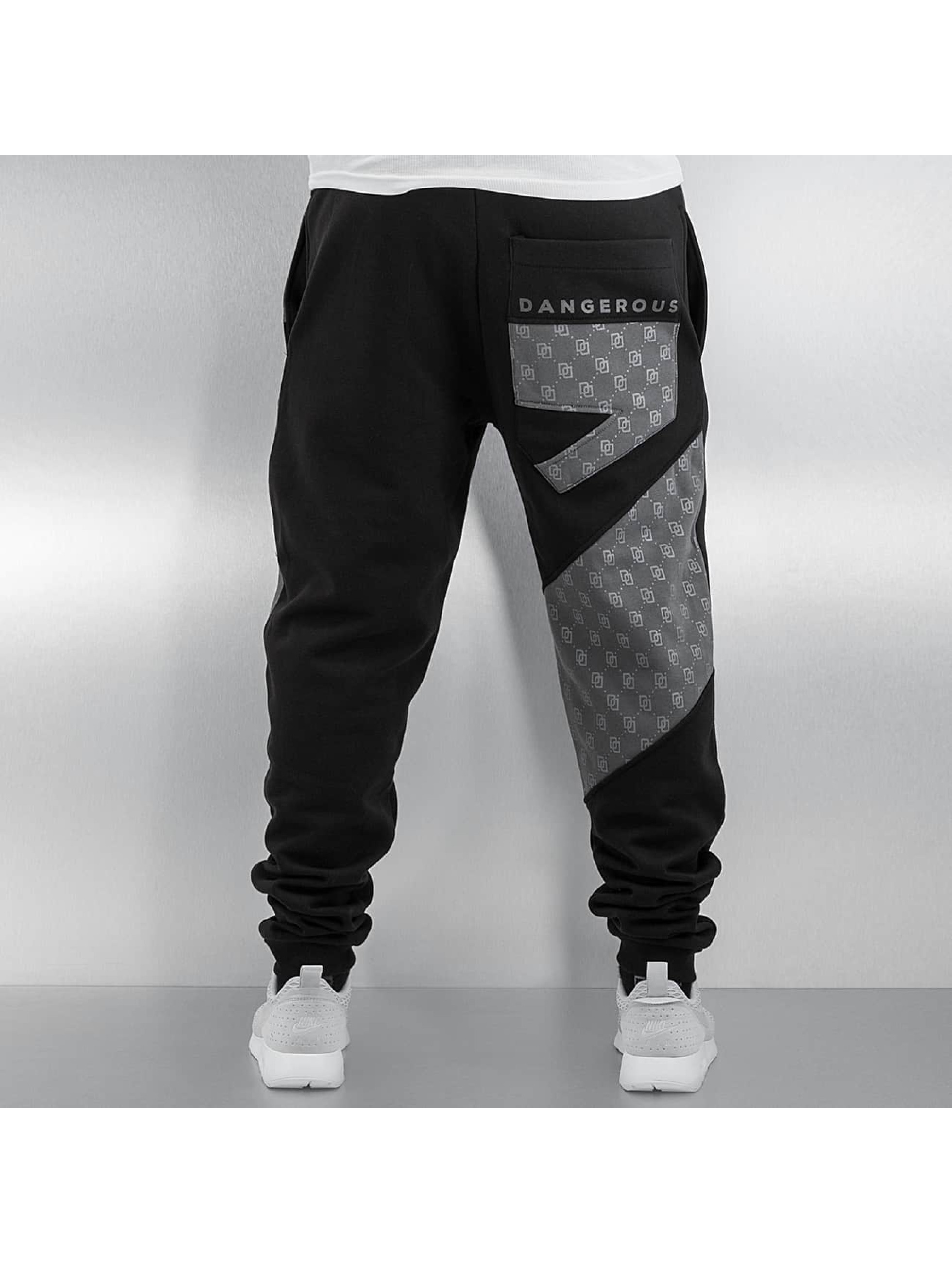 Dangerous DNGRS Sweat Pant Small Symbols black