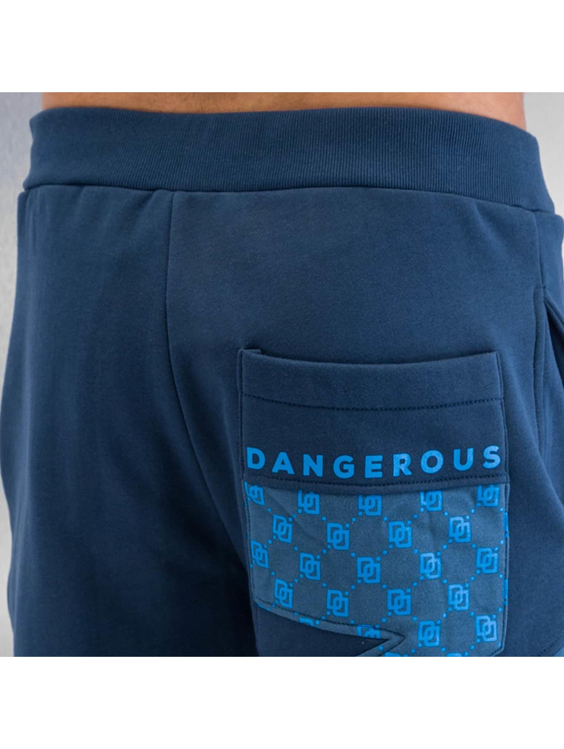 Dangerous DNGRS Sweat Pant Small Symbols blue