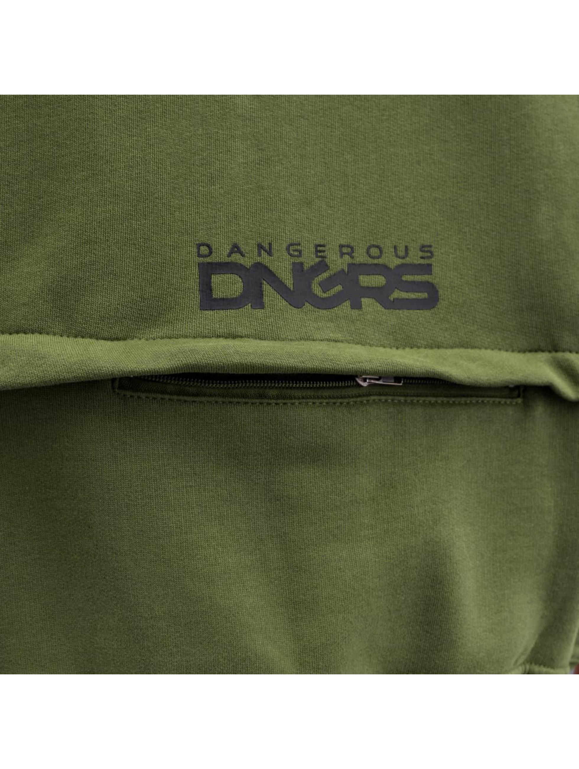 Dangerous DNGRS Sweatvest Halil olijfgroen