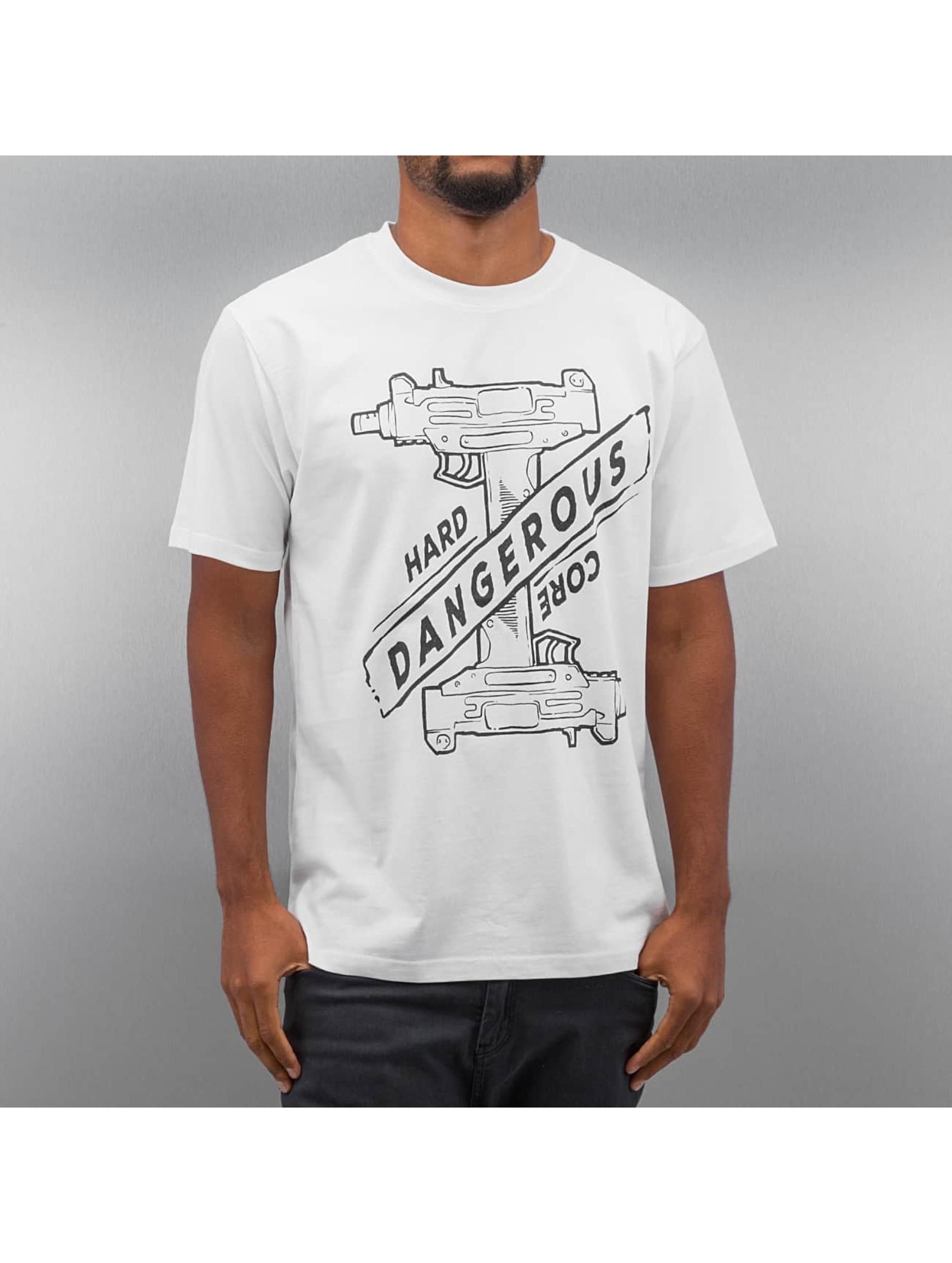 Dangerous DNGRS T-paidat Hardcore Uzi valkoinen