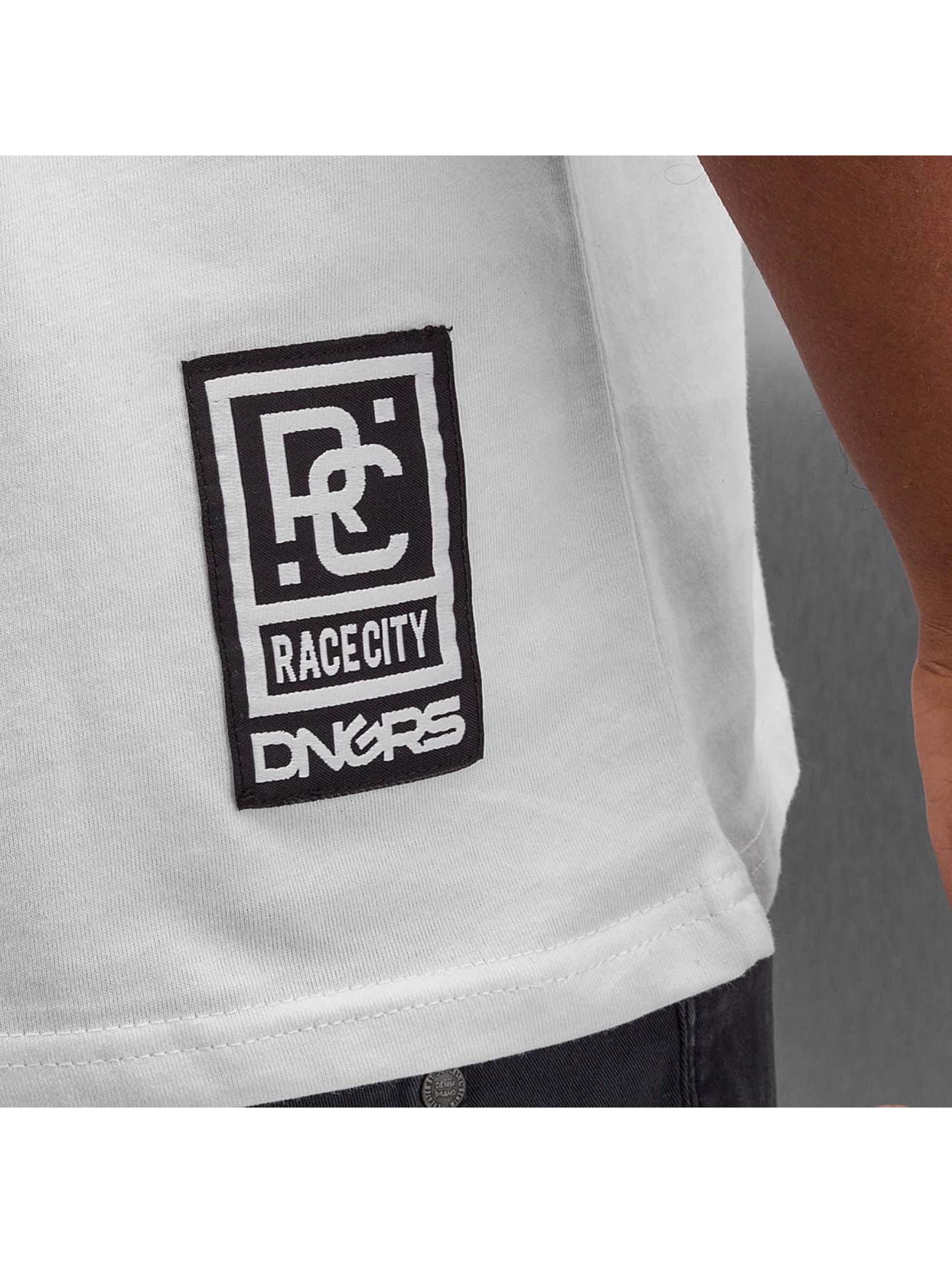 Dangerous DNGRS T-Shirt Sprayed Logo Race City blanc