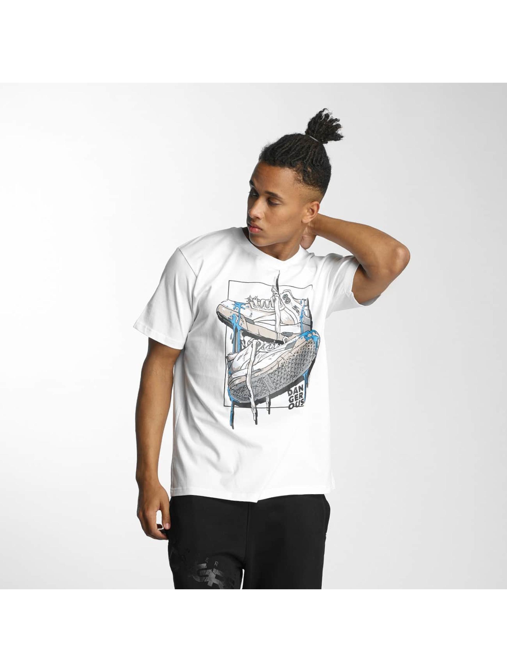 Dangerous DNGRS Haut / T-Shirt Sneaker en blanc